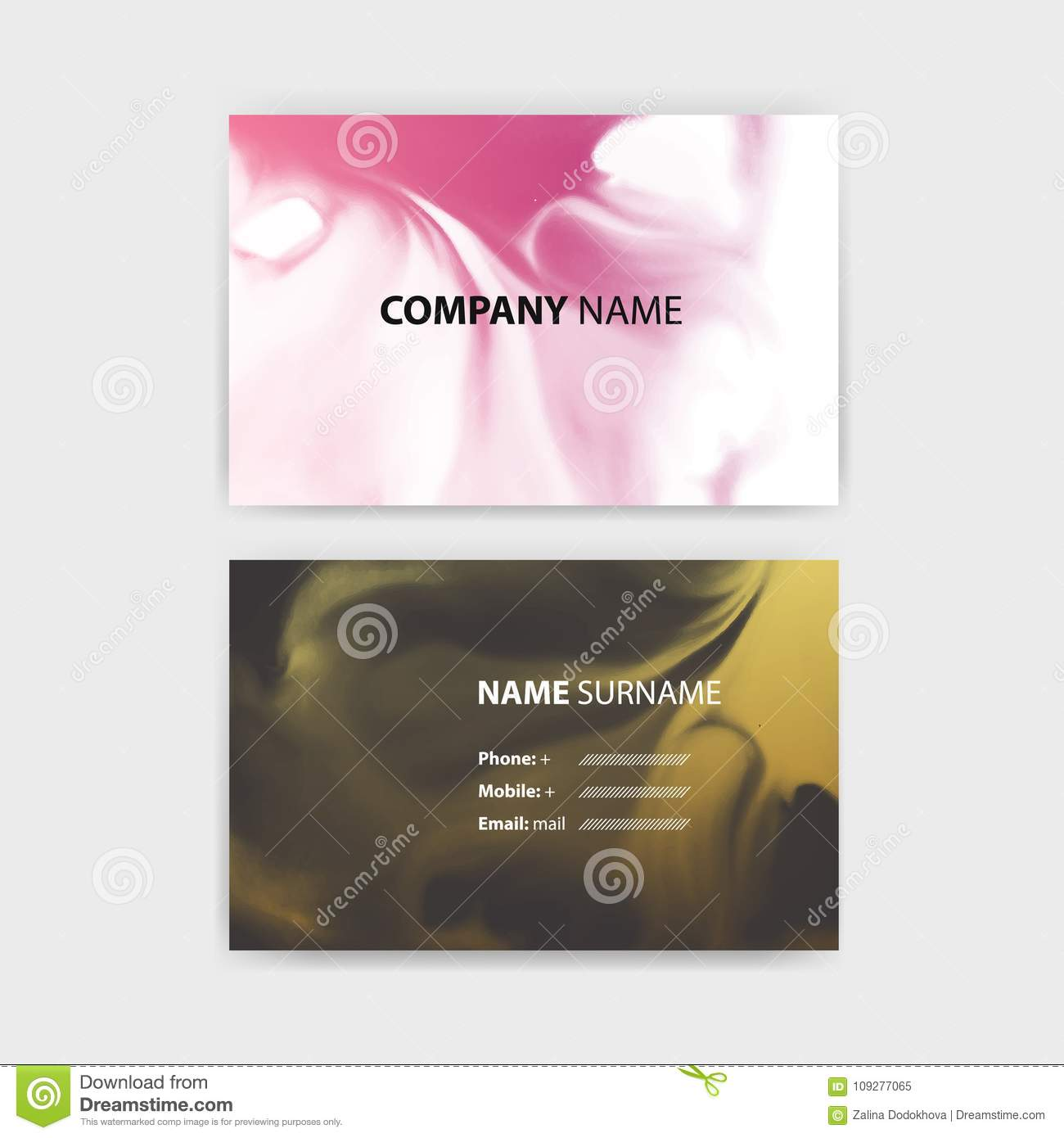 horizontal business card template vector image collections