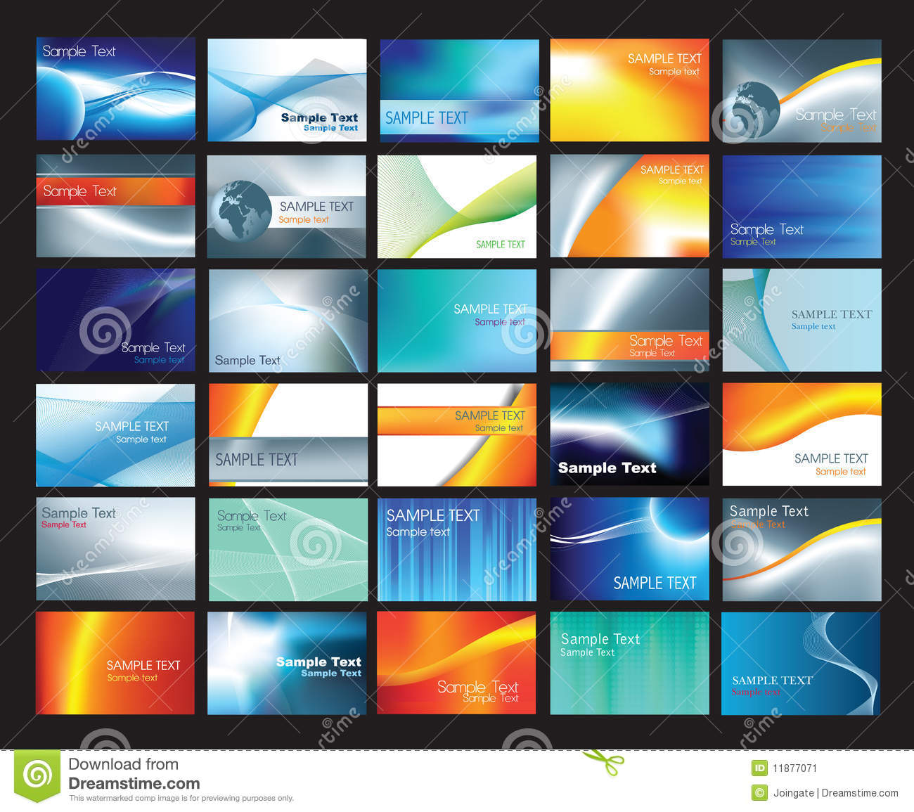 Business Card Template Set Stock Image Image