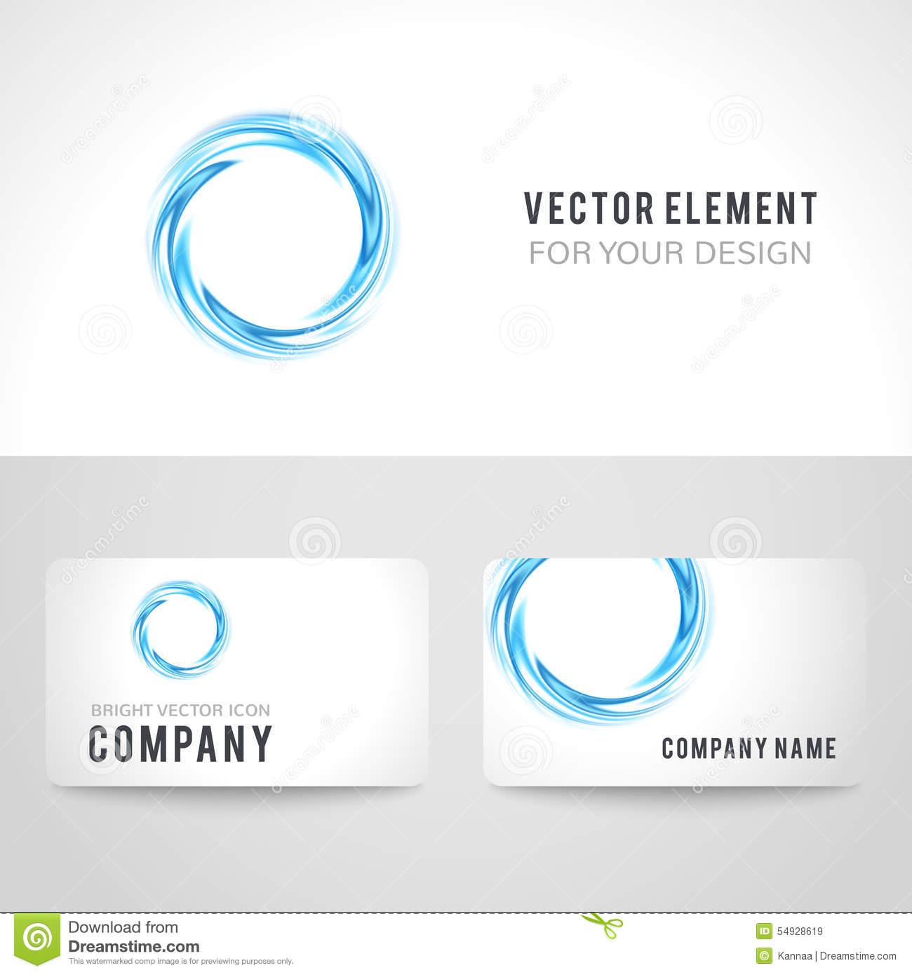 Business card template set abstract blue circle stock vector business card template set abstract blue circle wajeb