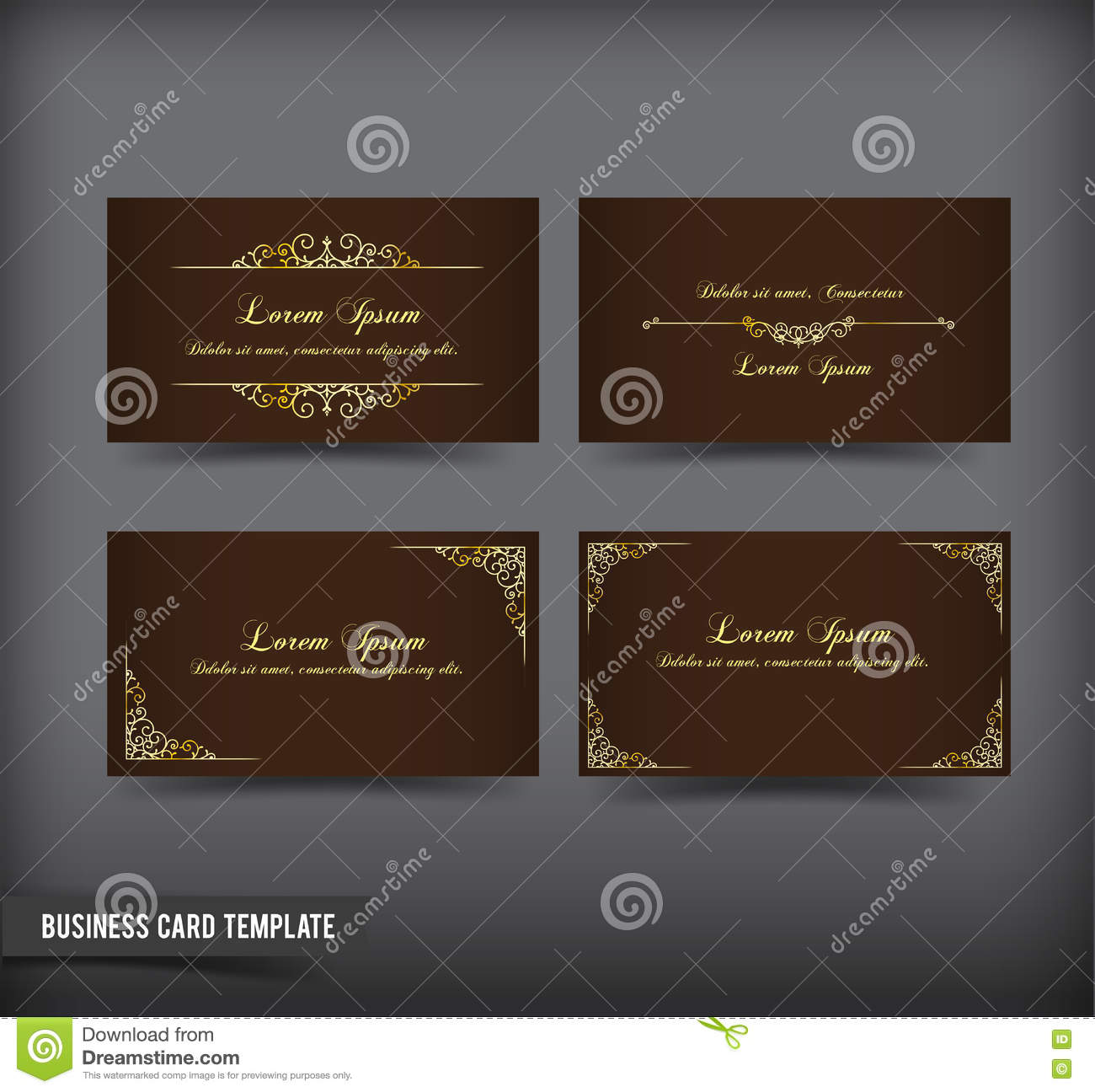 Business Card Template Set 59 Stock Vector Illustration Of Clean