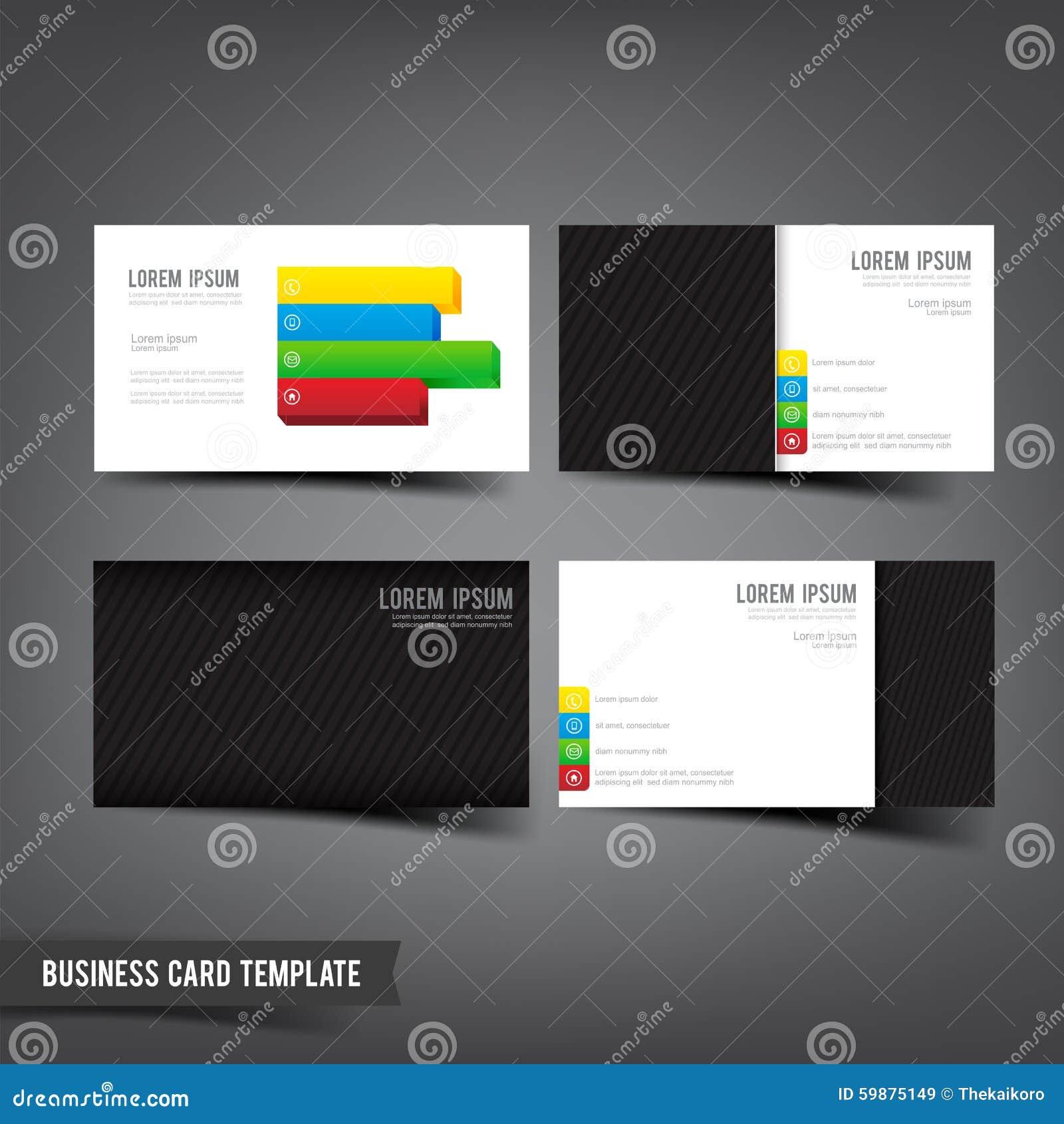 Business card template set 045 grey white color with mini four stock download business card template set 045 grey white color with mini four stock vector illustration flashek Choice Image
