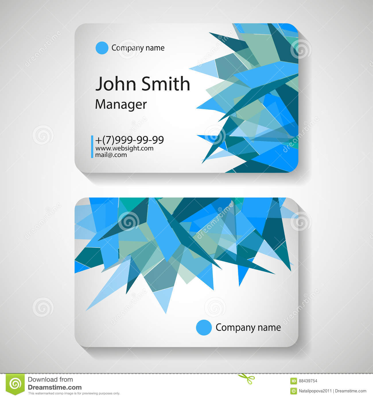 Business Card Template Vector Illustration Stock Vector - Office card template