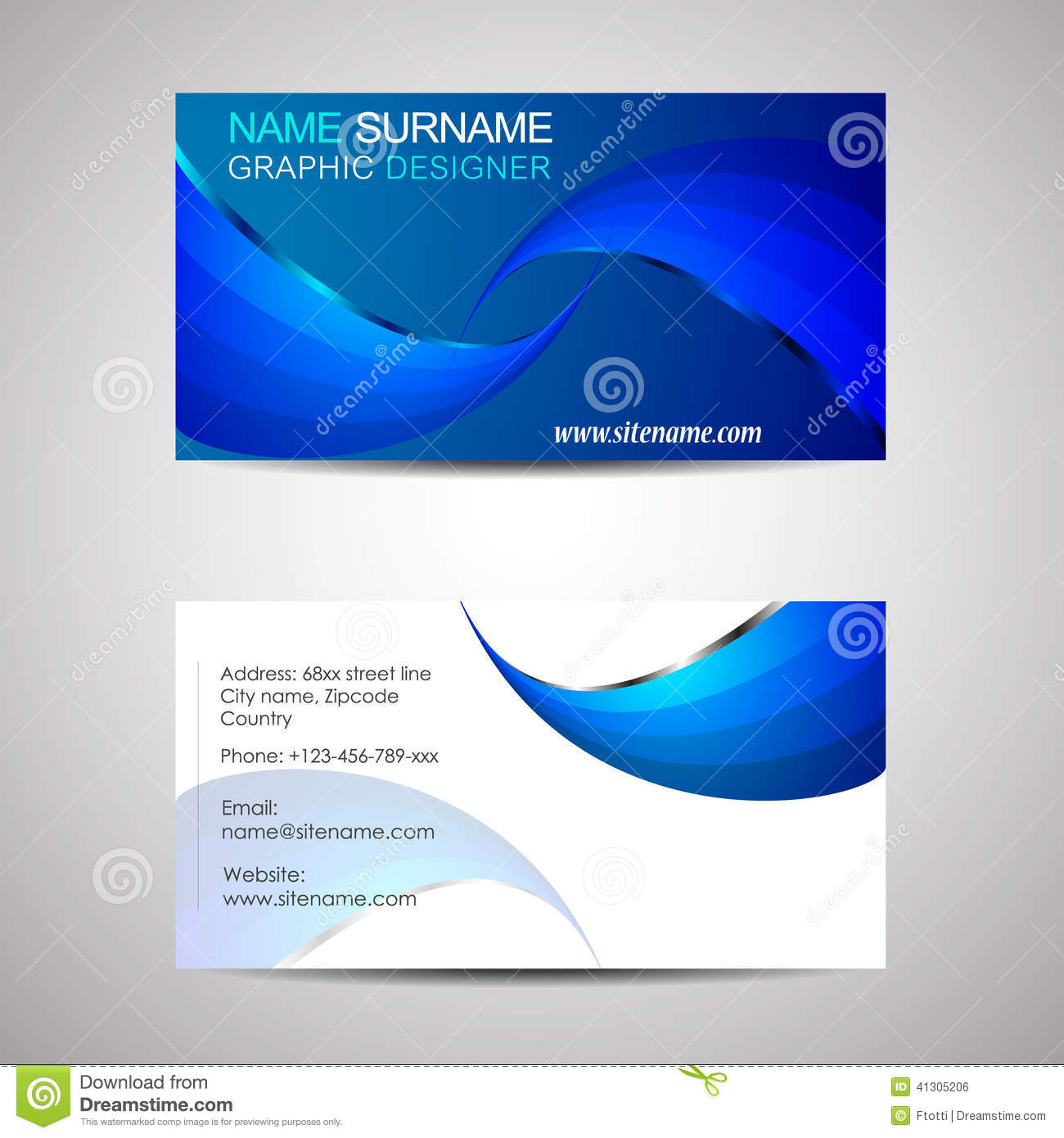 Business card template or visiting card stock vector illustration download business card template or visiting card stock vector illustration of business minimal colourmoves