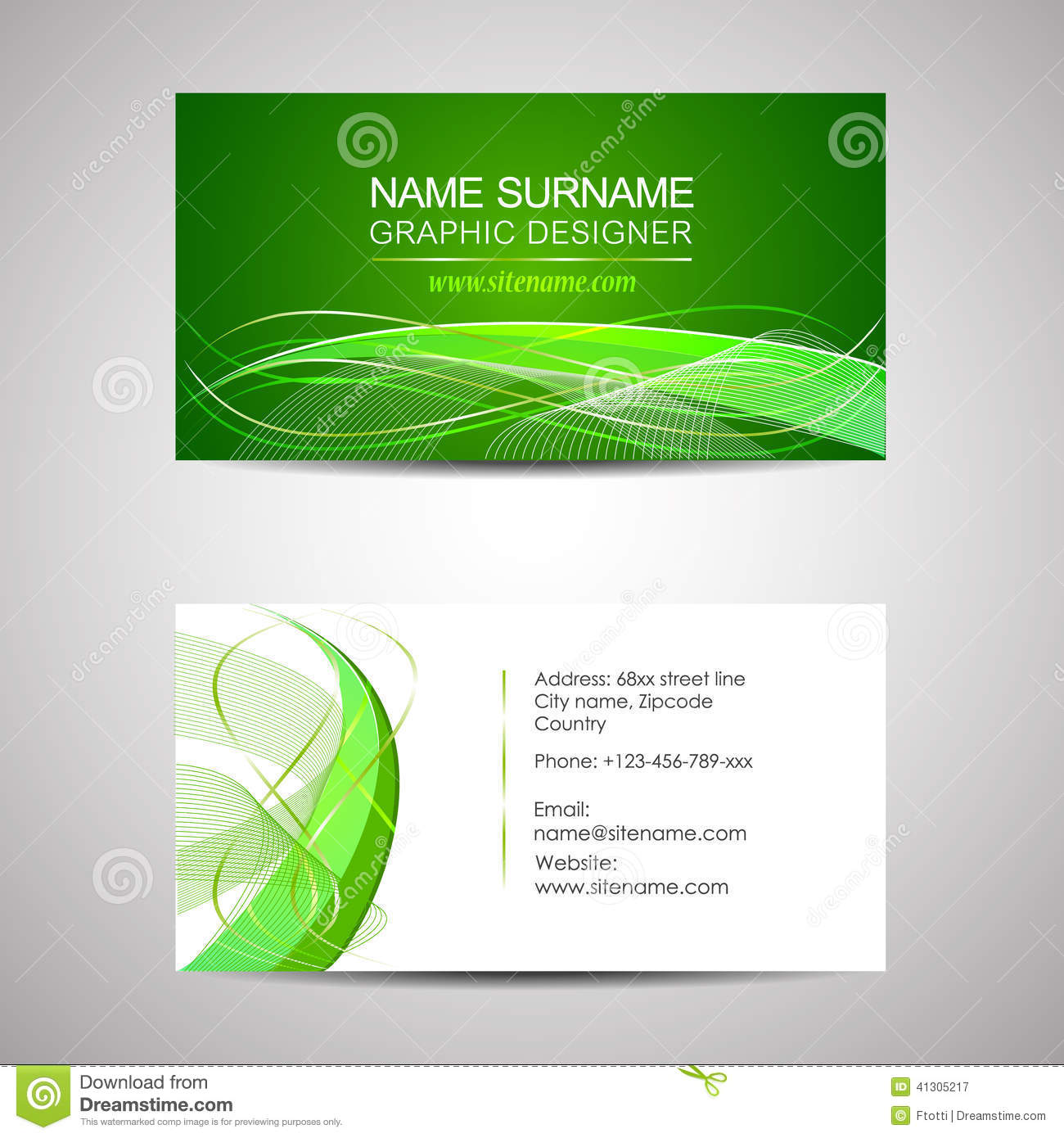 Business card template or visiting card stock vector image 41305217 business card template or visiting card magicingreecefo Choice Image