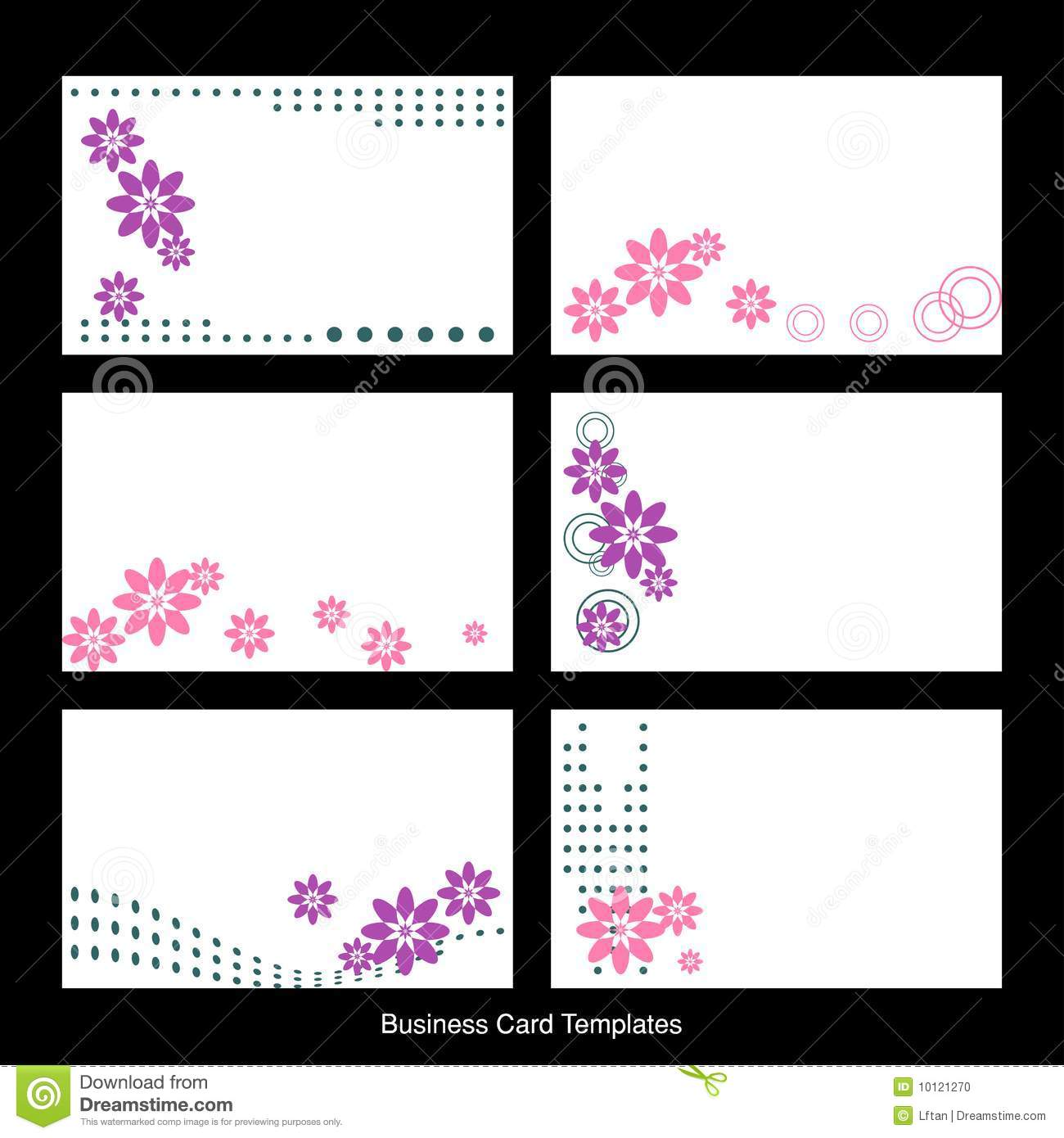 business card templates stock vector illustration of floral 10121270. Black Bedroom Furniture Sets. Home Design Ideas