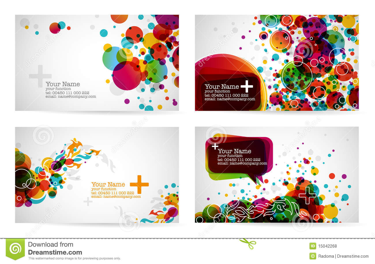 Business Card Templates Stock Vector Illustration Of Graphic - Free downloadable business card templates