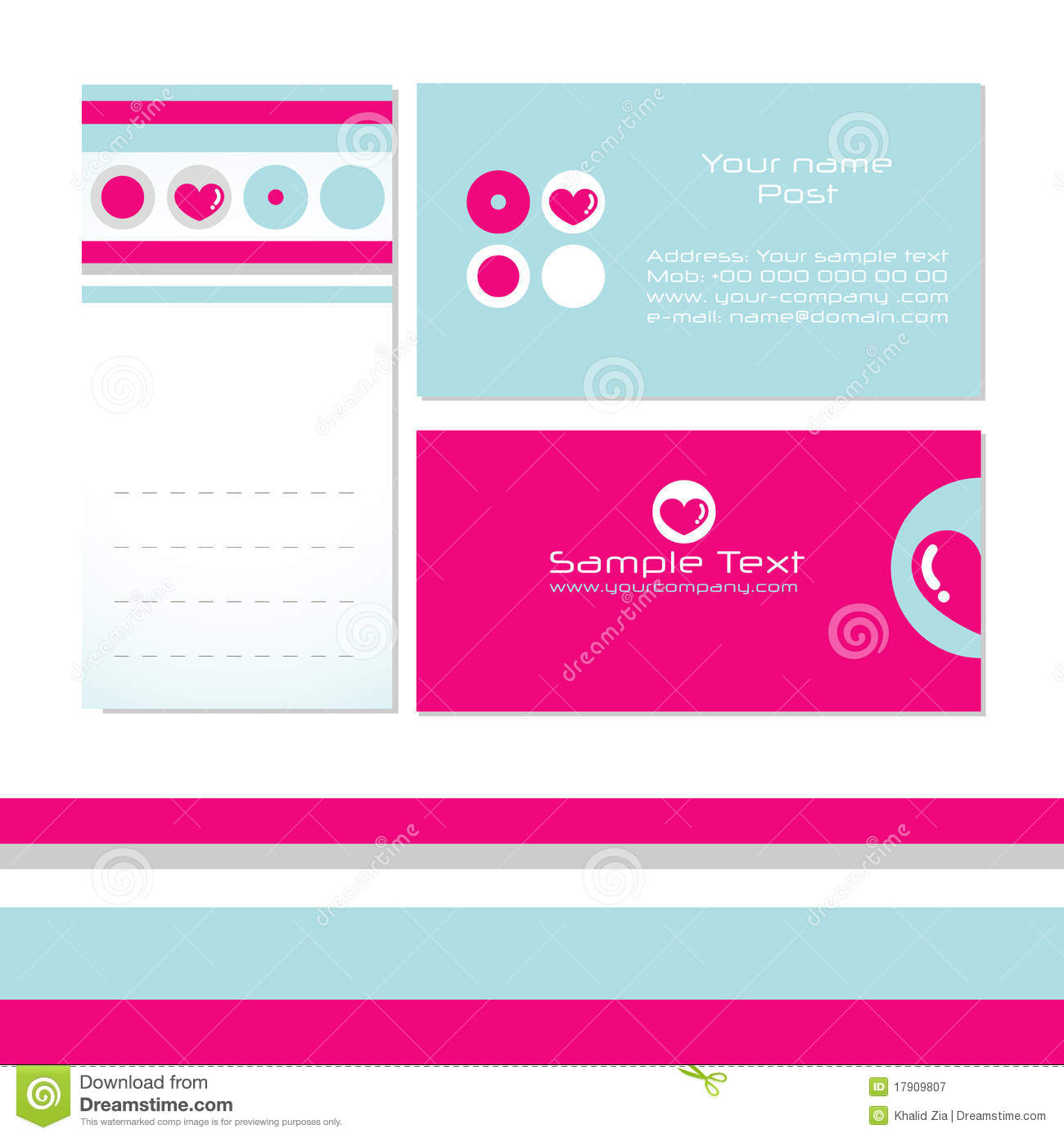Business Card Templates Royalty Free Stock graphy