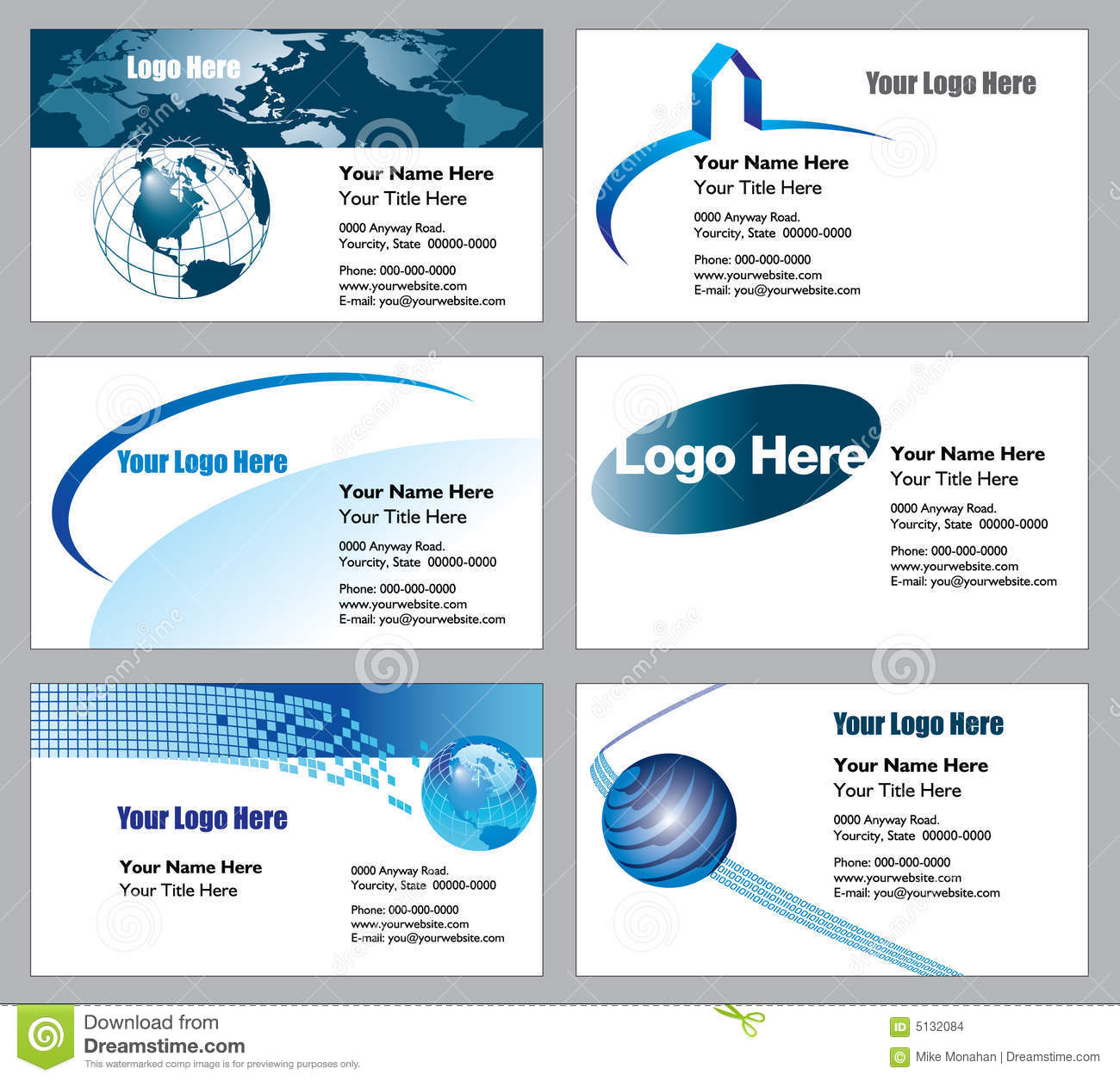 Business card template design vector file stock vector business card templates stock images flashek Image collections