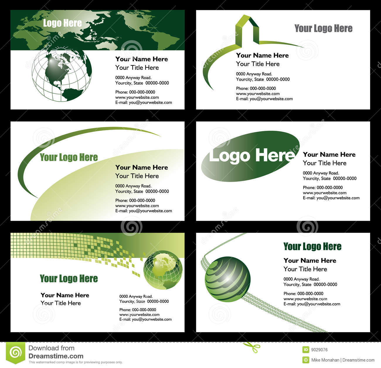 Business Card Templates Stock Vector Illustration Of Oval - Business card layout template