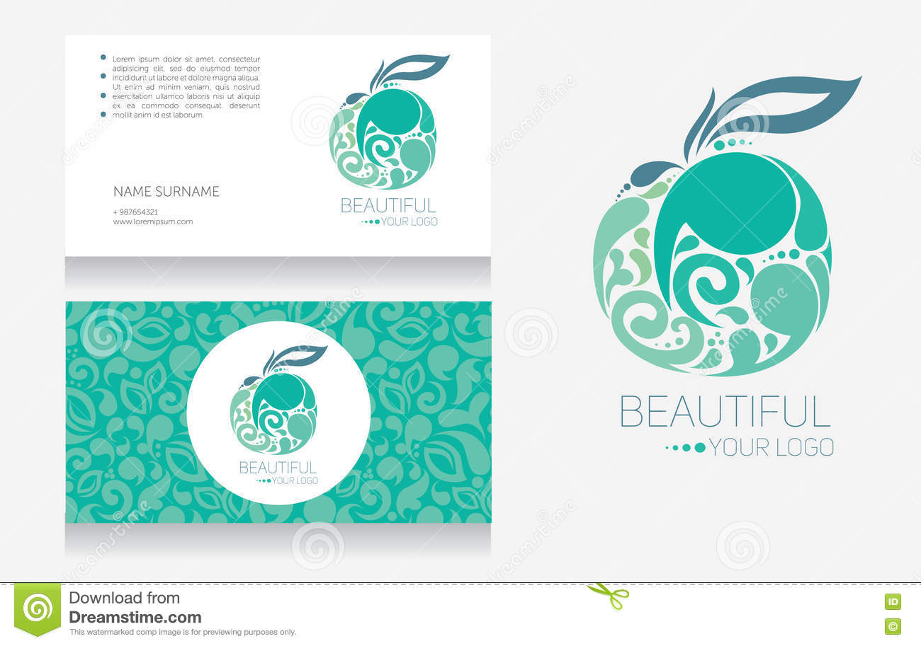 Business Card Templates And Apple - Logotype Stock Vector ...