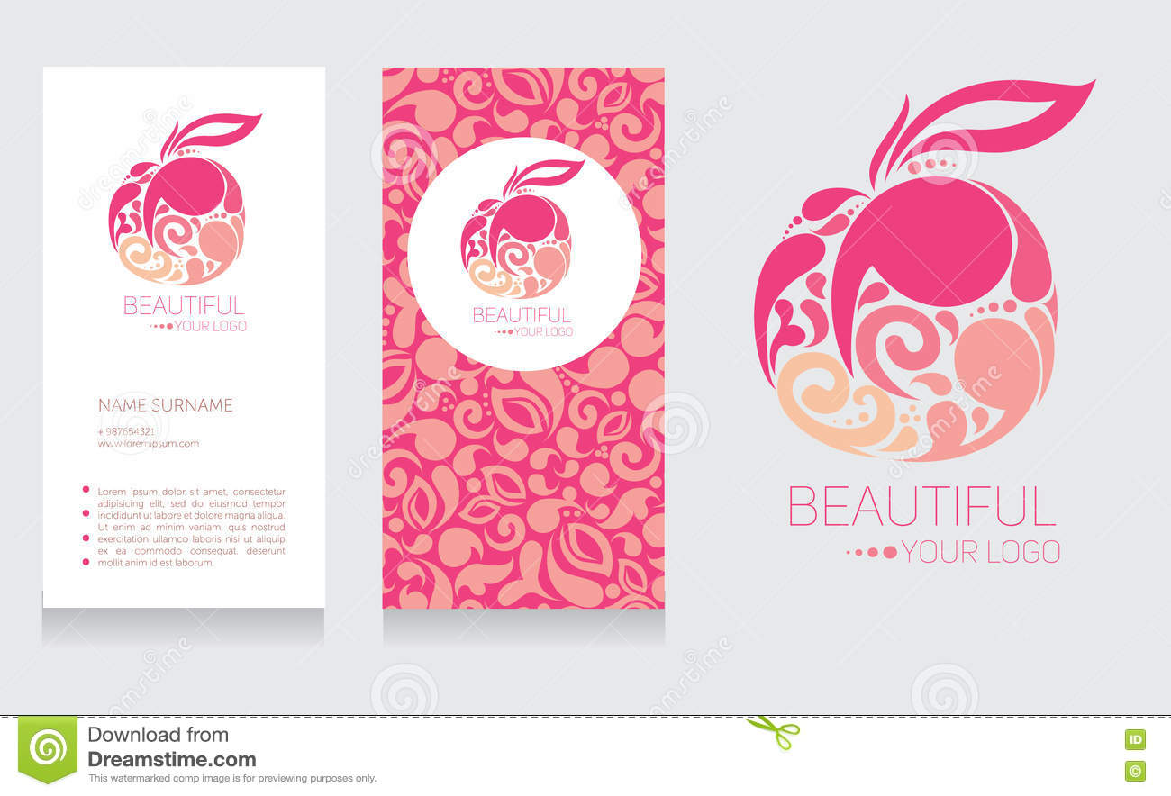 Business Card Templates And Apple Logotype Stock Vector