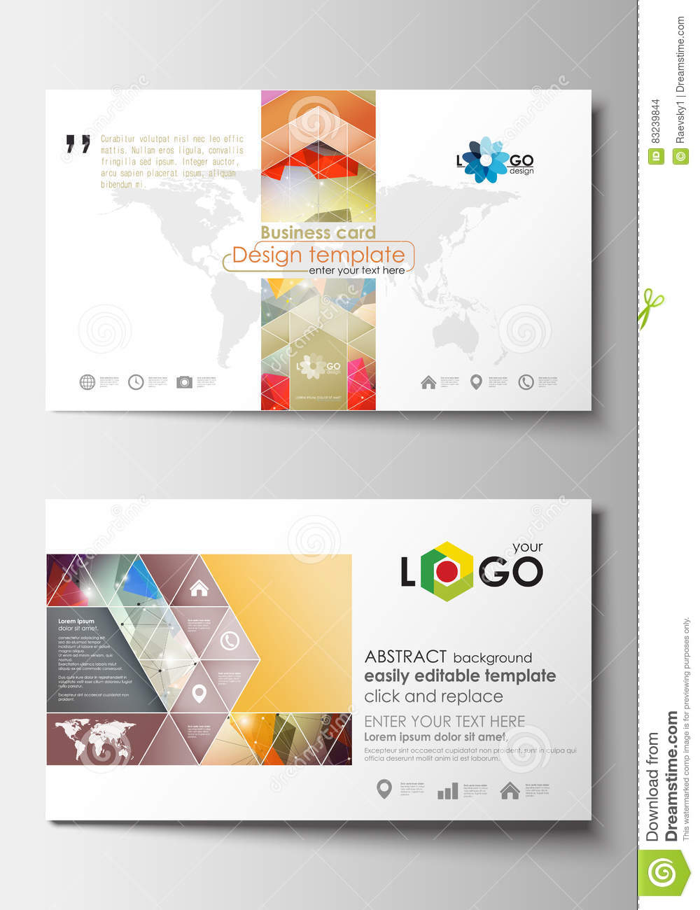 Business card templates cover design template easy editable blank download comp reheart Gallery