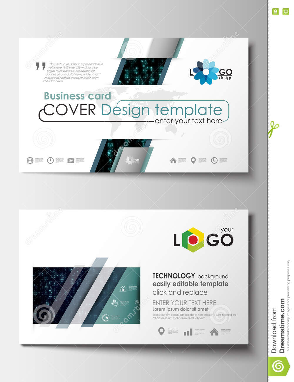 Business Card Templates. Cover Design Template, Easy Editable Blank ...