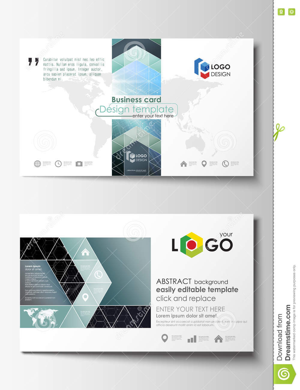 Business card templates cover template easy editable abstract business card templates cover template easy editable abstract flat design vector layout chemistry pattern hexagonal magicingreecefo Choice Image