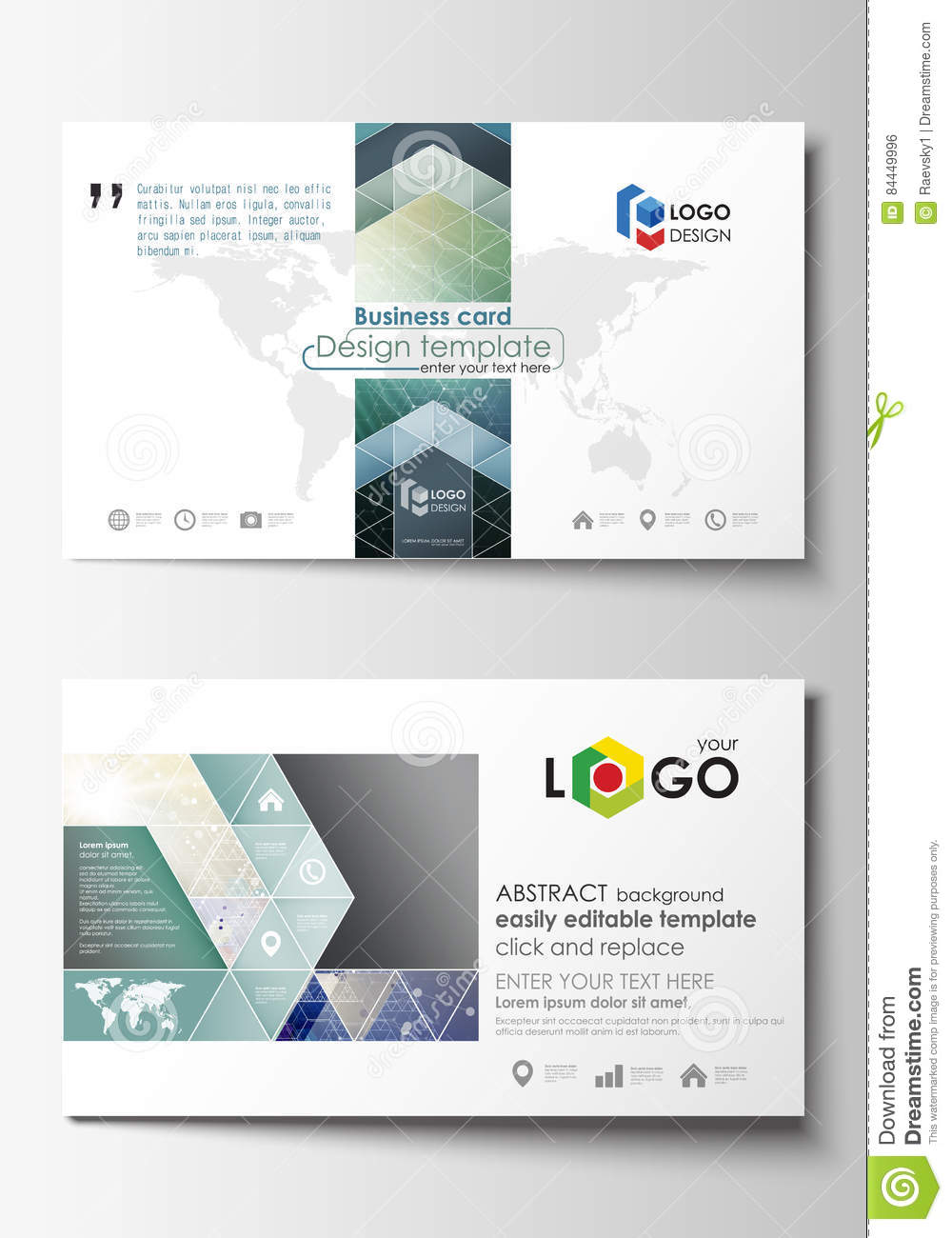 Business card templates easy editable layout abstract flat design download comp accmission Choice Image