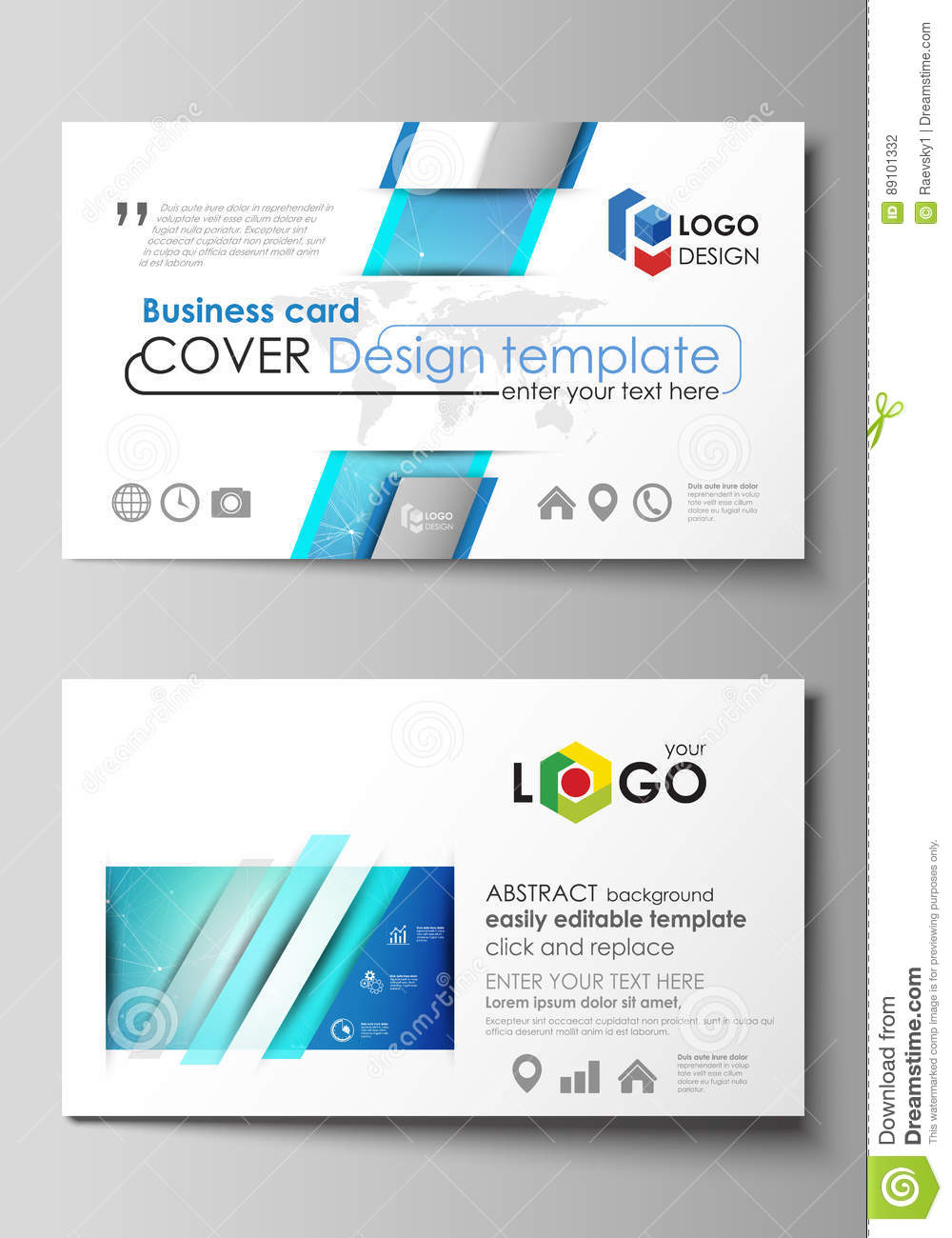 business card templates easy editable layout abstract vector