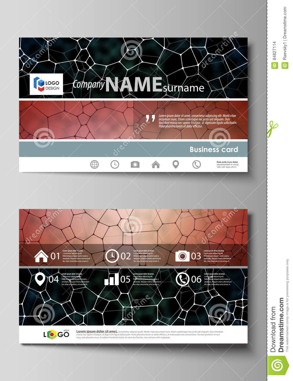 Business Card Templates Easy Editable Layout Abstract Vector - Editable business card templates free