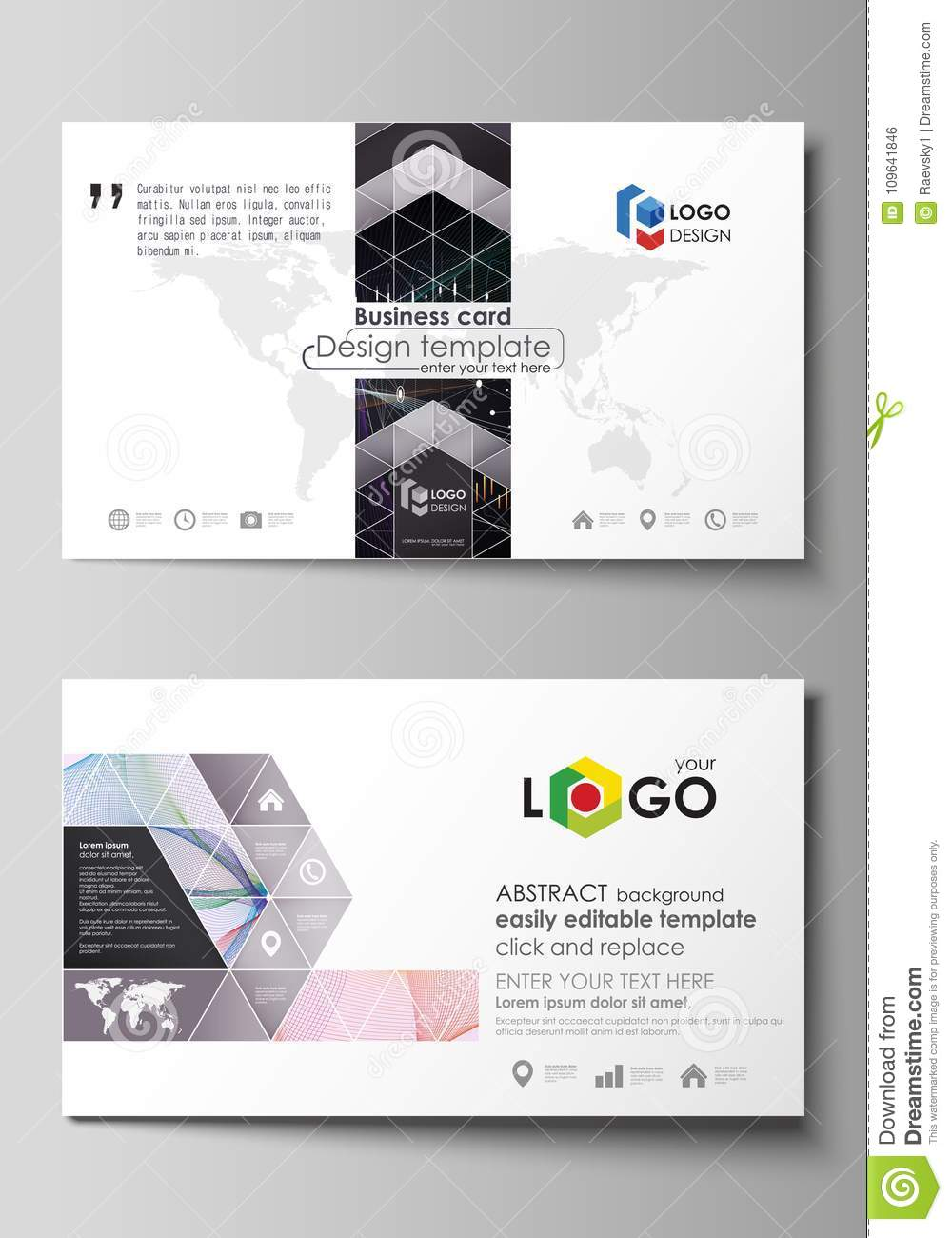 Business card templates easy editable vector layout colorful business card templates easy editable vector layout colorful abstract design infographic background in minimalist wajeb Images