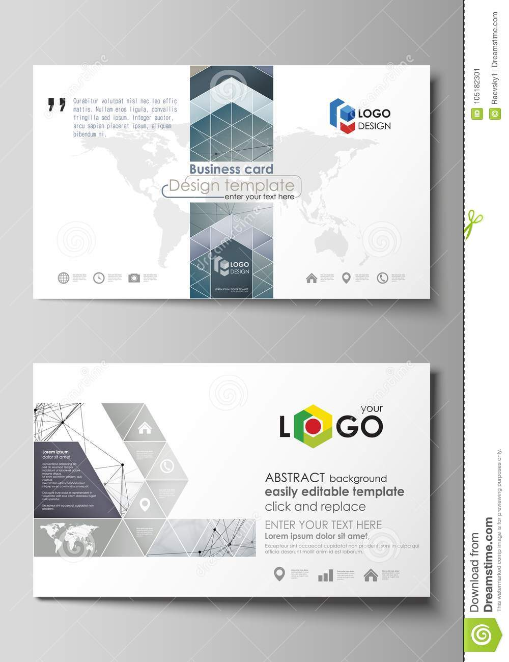 Business card templates easy editable layout abstract vector business card templates easy editable layout abstract vector design template dna and neurons fbccfo Choice Image