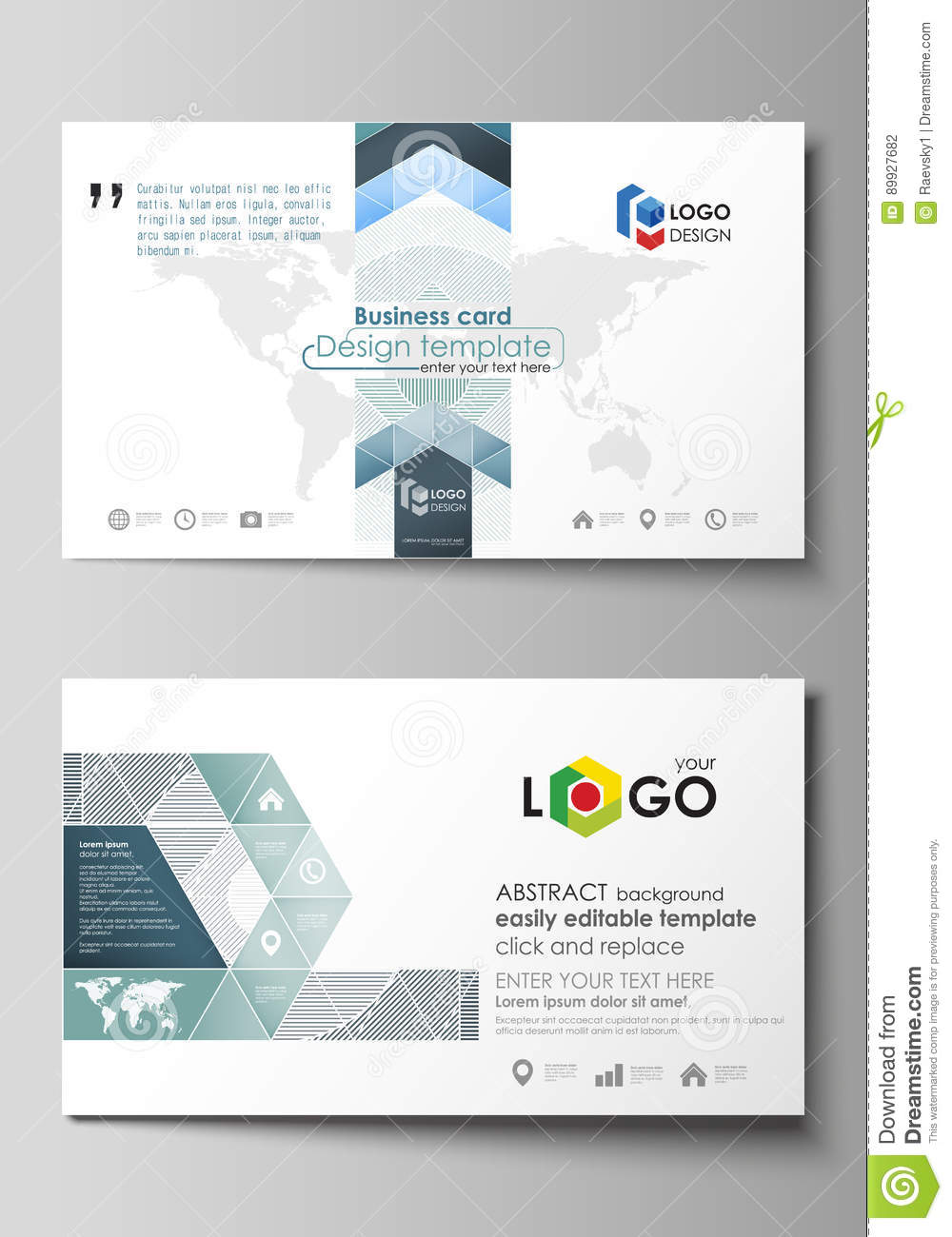 Business card templates easy editable layout abstract vector business card templates easy editable layout abstract vector design template minimalistic background with lines gray alramifo Images