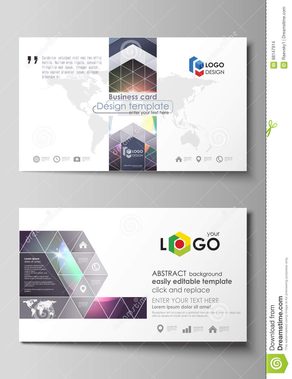 Business card templates easy editable layout abstract vector business card templates easy editable layout abstract vector template retro style mystical wajeb Image collections