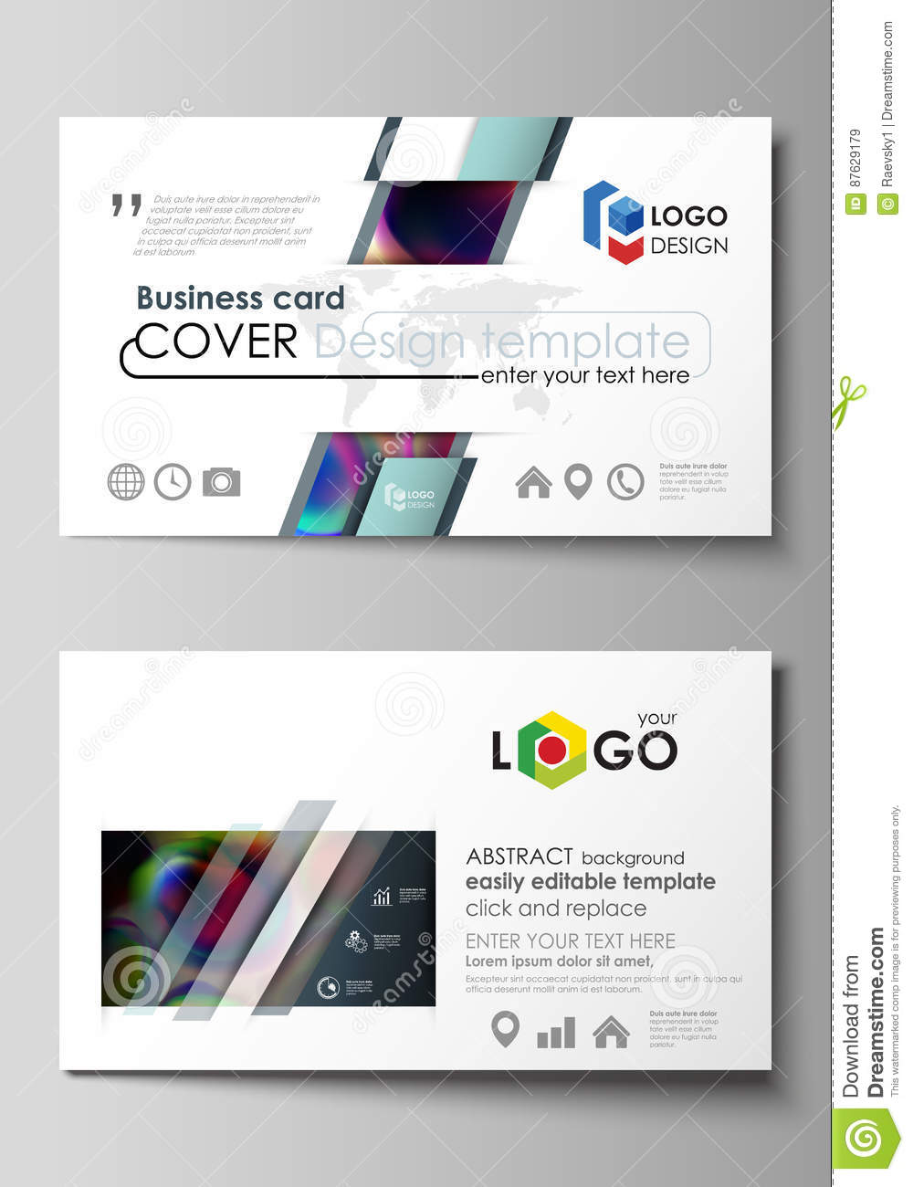 Business card templates easy editable layout flat style template business card templates easy editable layout flat style template vector illustration colorful wajeb Choice Image