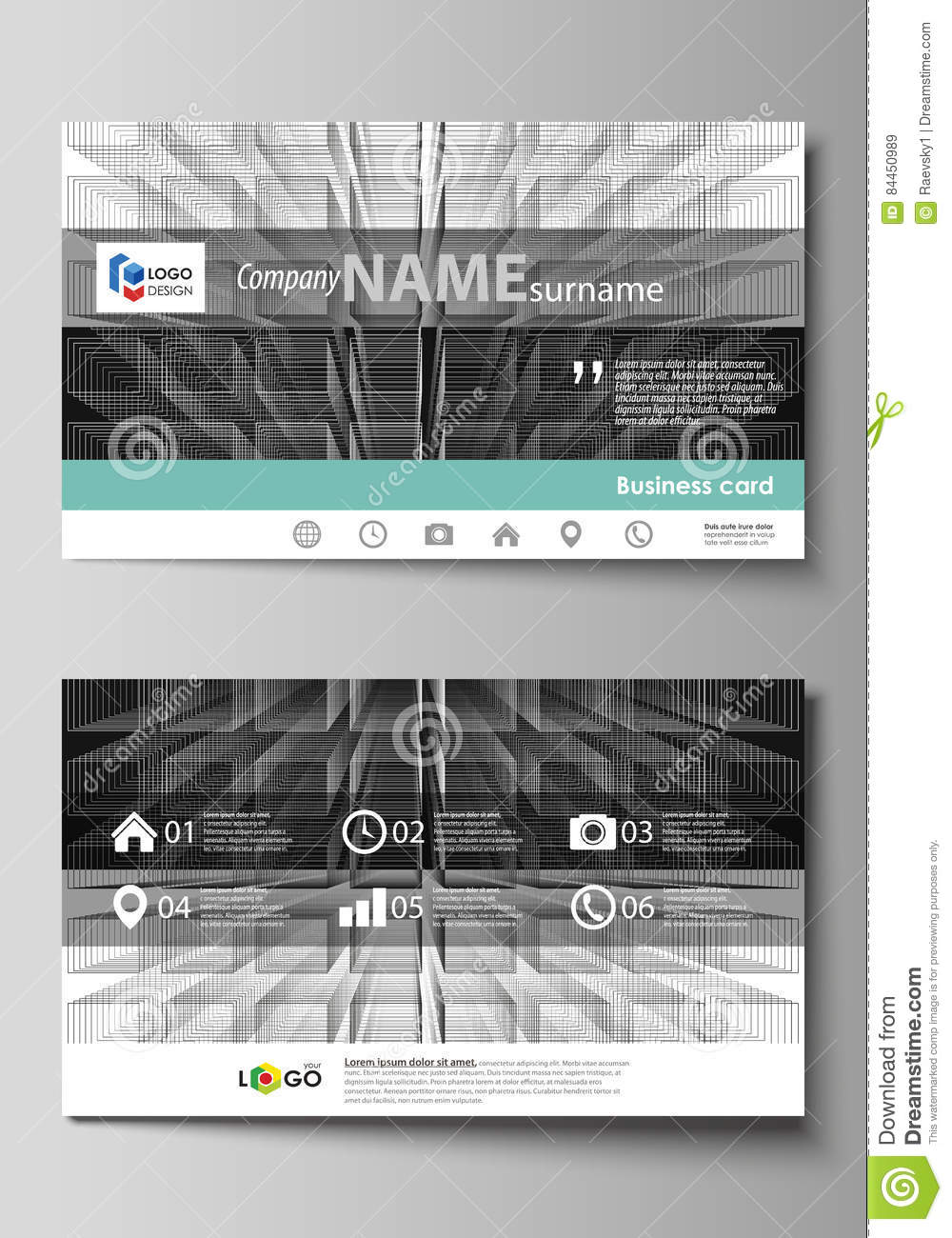 Business card templates easy editable layout vector design business card templates easy editable layout vector design template abstract infinity background 3d structure with reheart Choice Image