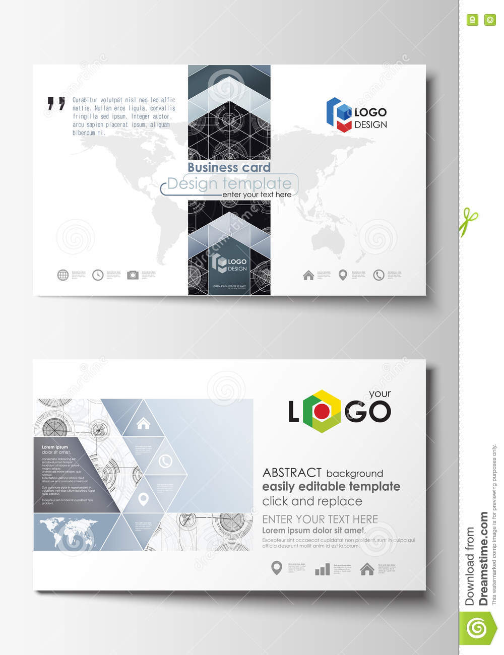 Business card templates easy editable layouts flat style template business card templates easy editable layouts flat style template vector illustration high tech design connecting cheaphphosting Gallery