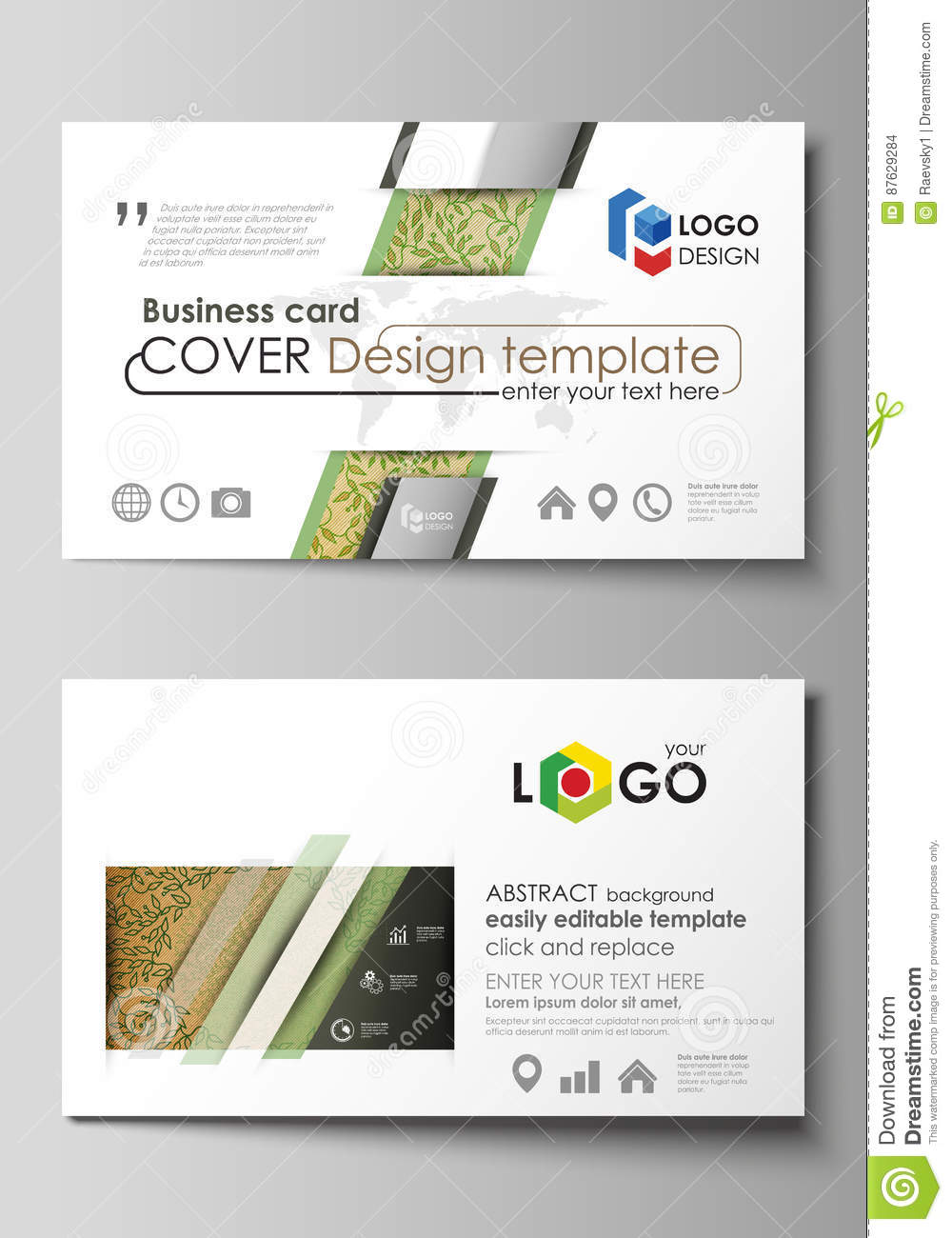 Business card templates easy editable layouts vector template business card templates easy editable layouts vector template abstract green color wooden design wood texture accmission Gallery