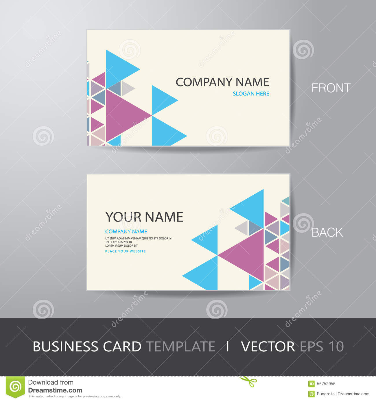Business card triangle abstract background design layout templat business card triangle abstract background design layout templat magicingreecefo Choice Image