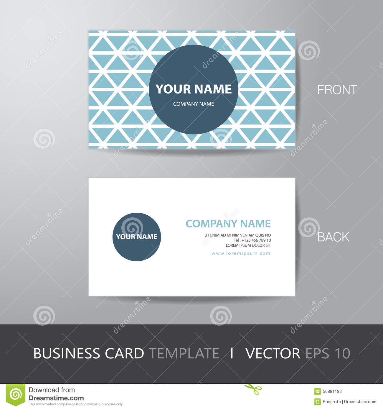 Business Card Triangle Abstract Background Design Layout Templat ...