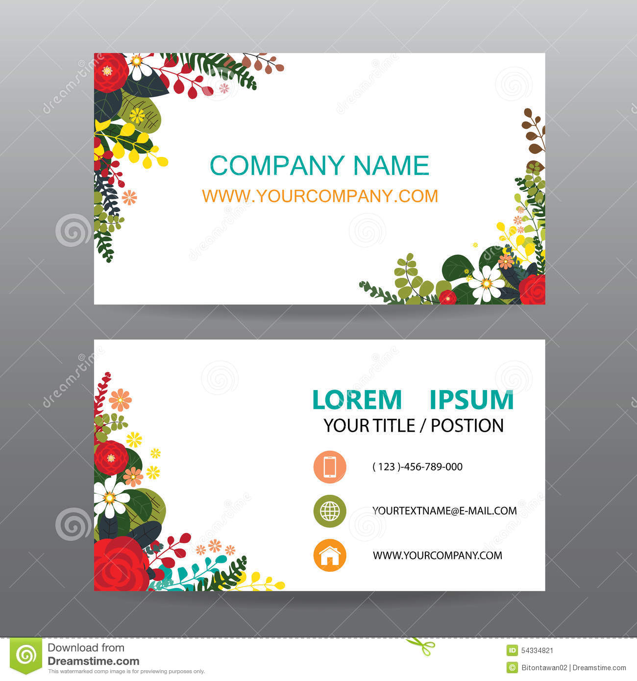 Business card vector backgrounddecorated with flowers frame stock business card vector backgrounddecorated with flowers frame magicingreecefo Gallery