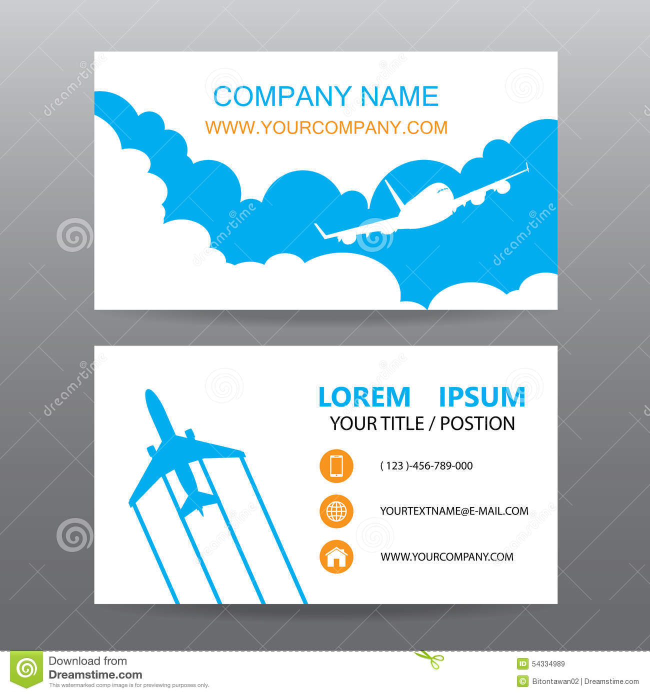Business Card Vector Background, Guide Tour Companies Stock Vector ...