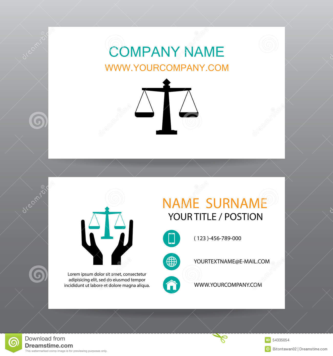 Business Card Vector Background,Insurance Law And Lawyer Stock ...