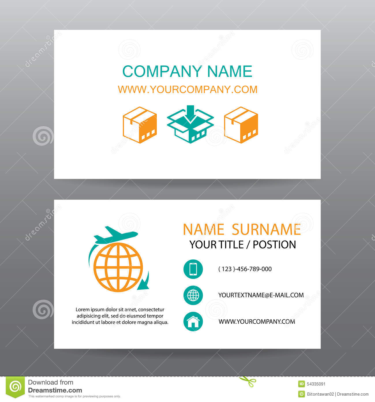 Business Card Vector Background Shipping And Logistics