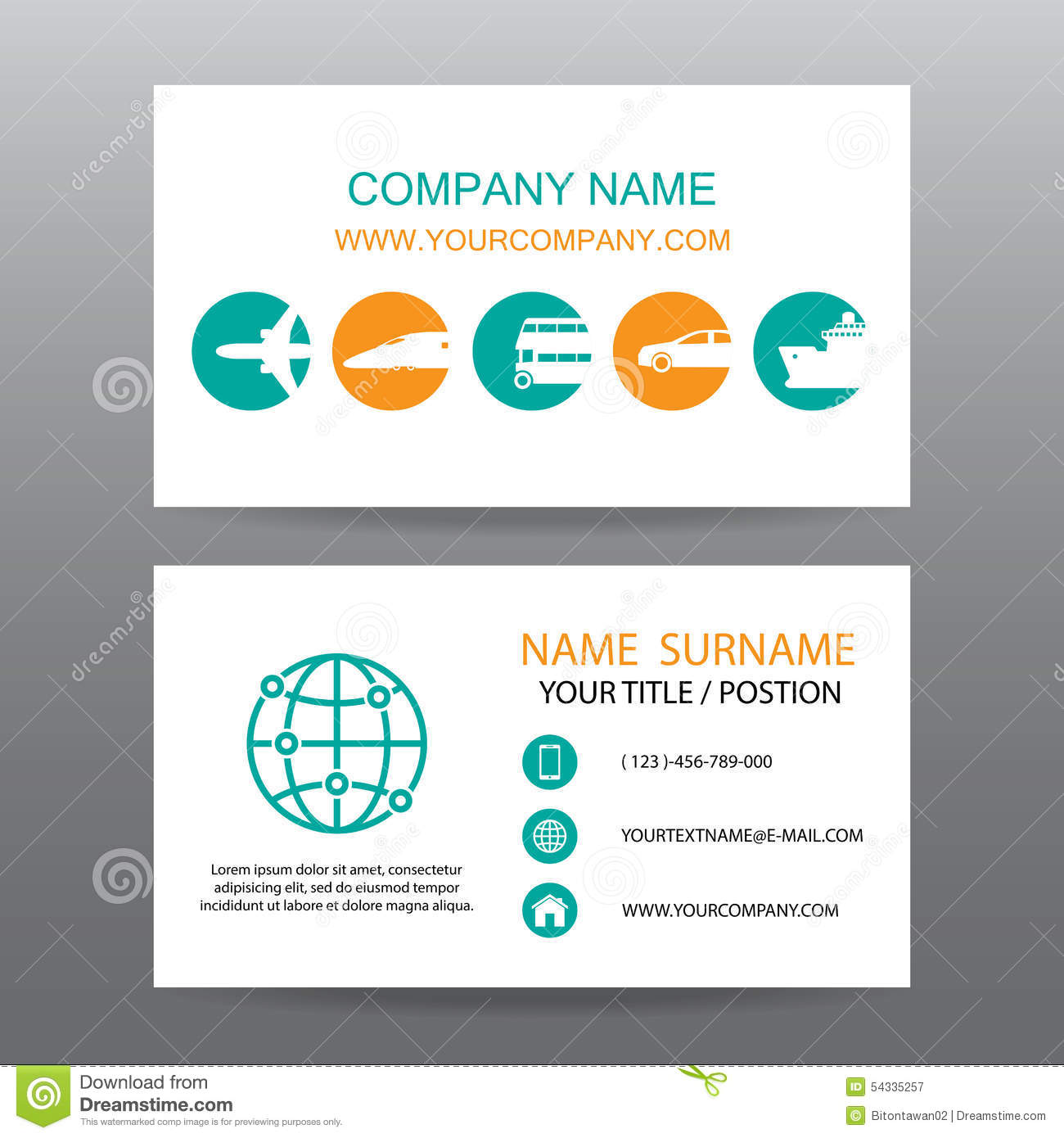 Business card design for taxi companies stock vector illustration business card vector backgroundtour companies stock illustration colourmoves