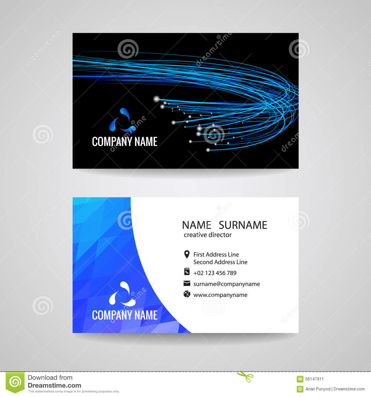 Business card vector blue light line is about network relationship business card vector blue light line is about network relationship and technology magicingreecefo Gallery