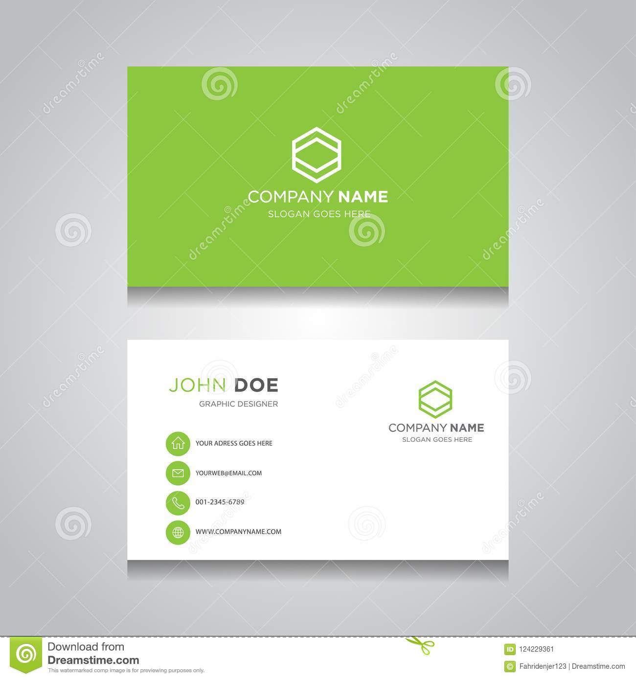 Business Card Vector Modern Design Stock Illustration Illustration Of Fashion Elegant 124229361