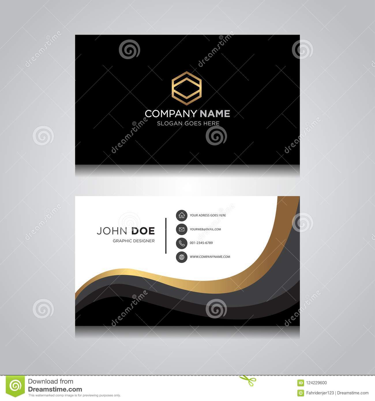 Business Card Vector Modern Design Stock Vector Illustration Of Modern Fashion 124229600