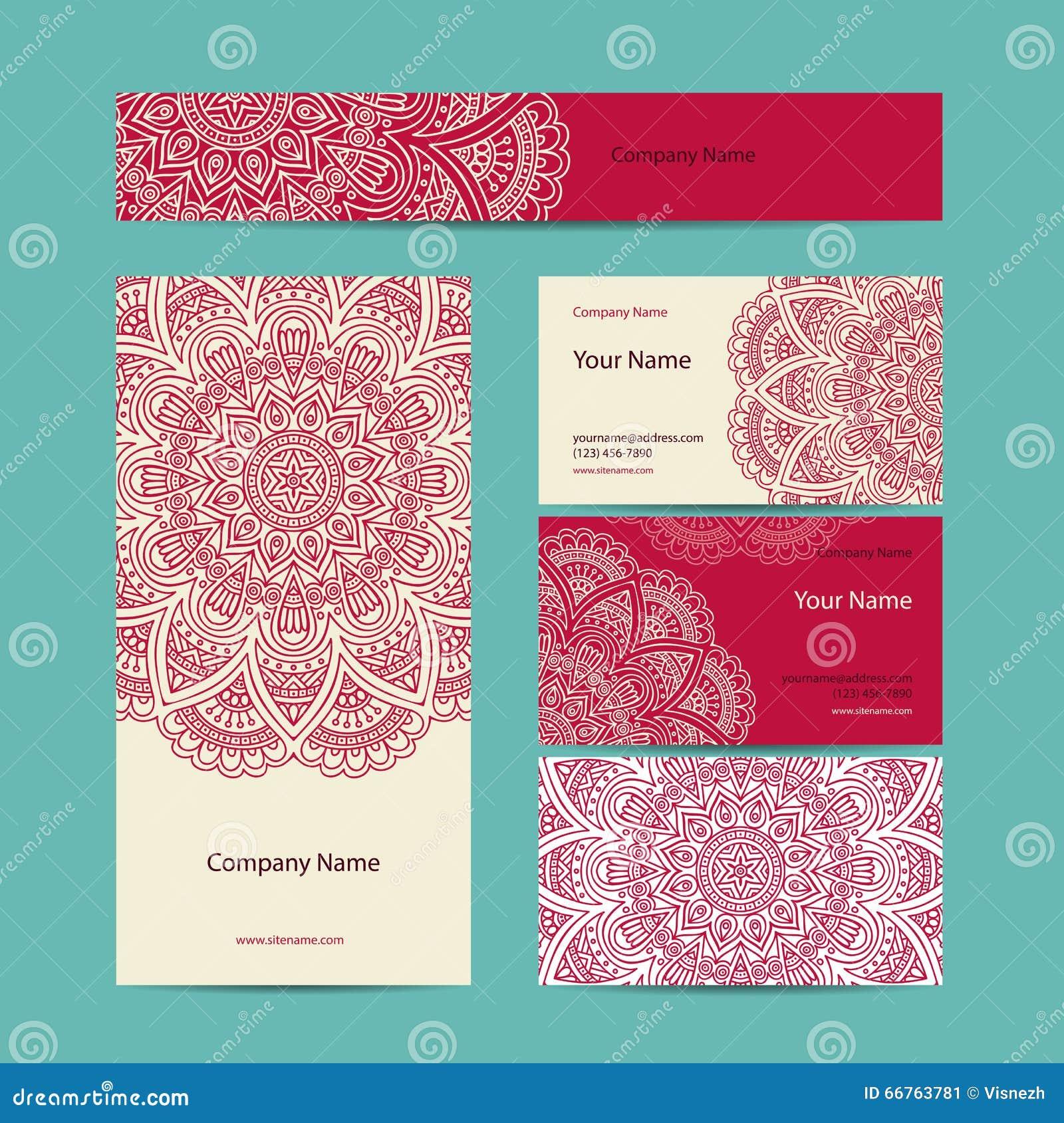 Business Card Vintage Decorative Elements Stock Vector