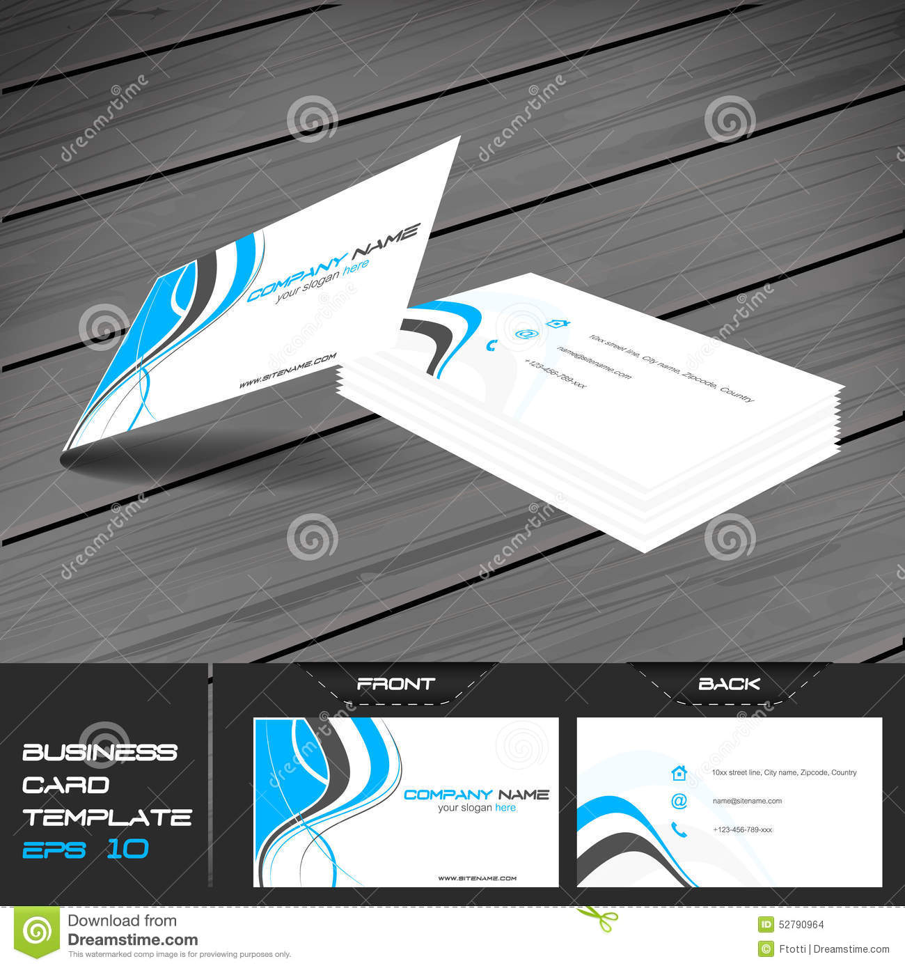 Business card or visiting card template stock vector illustration business card or visiting card template reheart Images