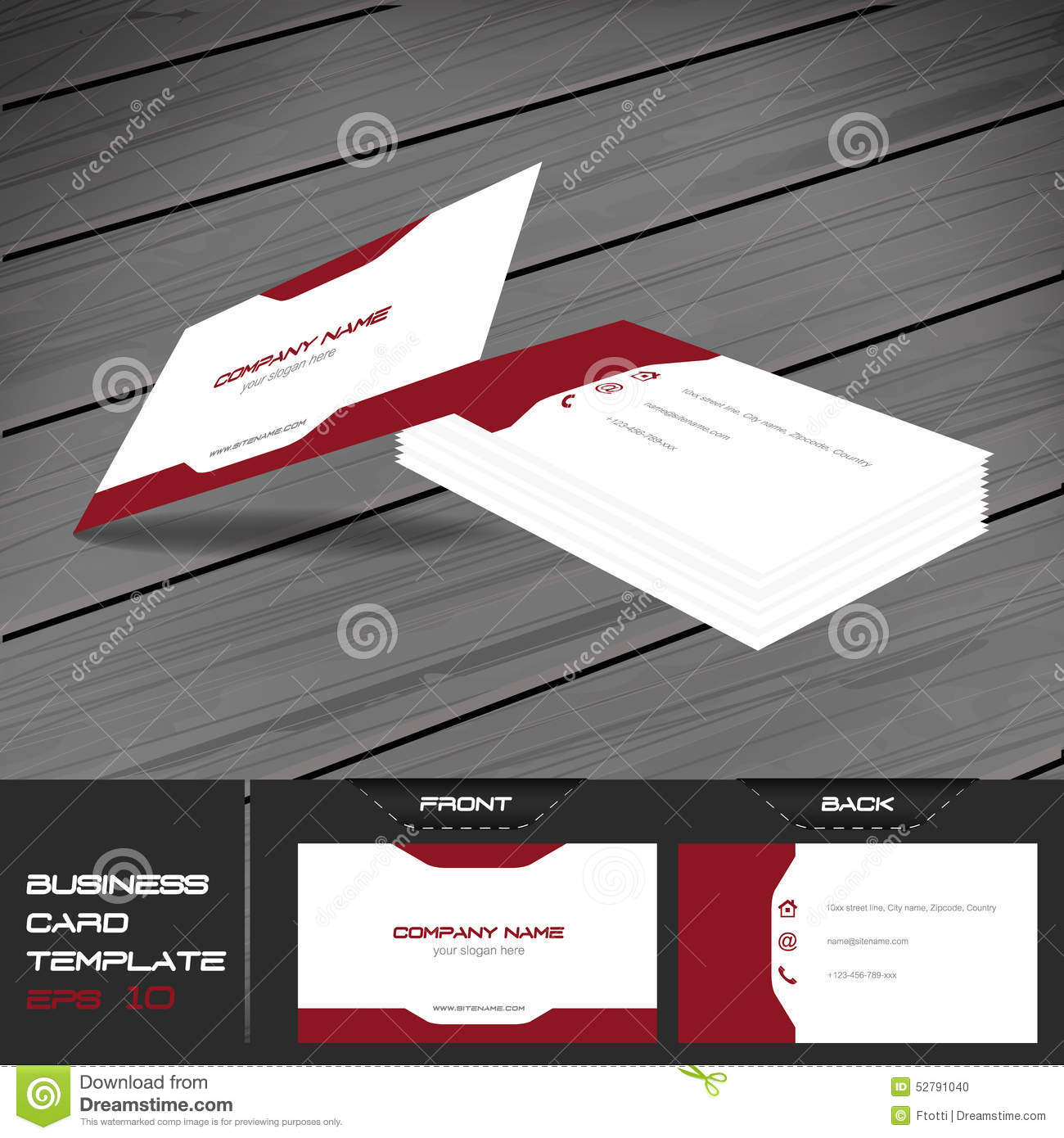 Front And Back Business Card Template Word Images - Business Cards Ideas