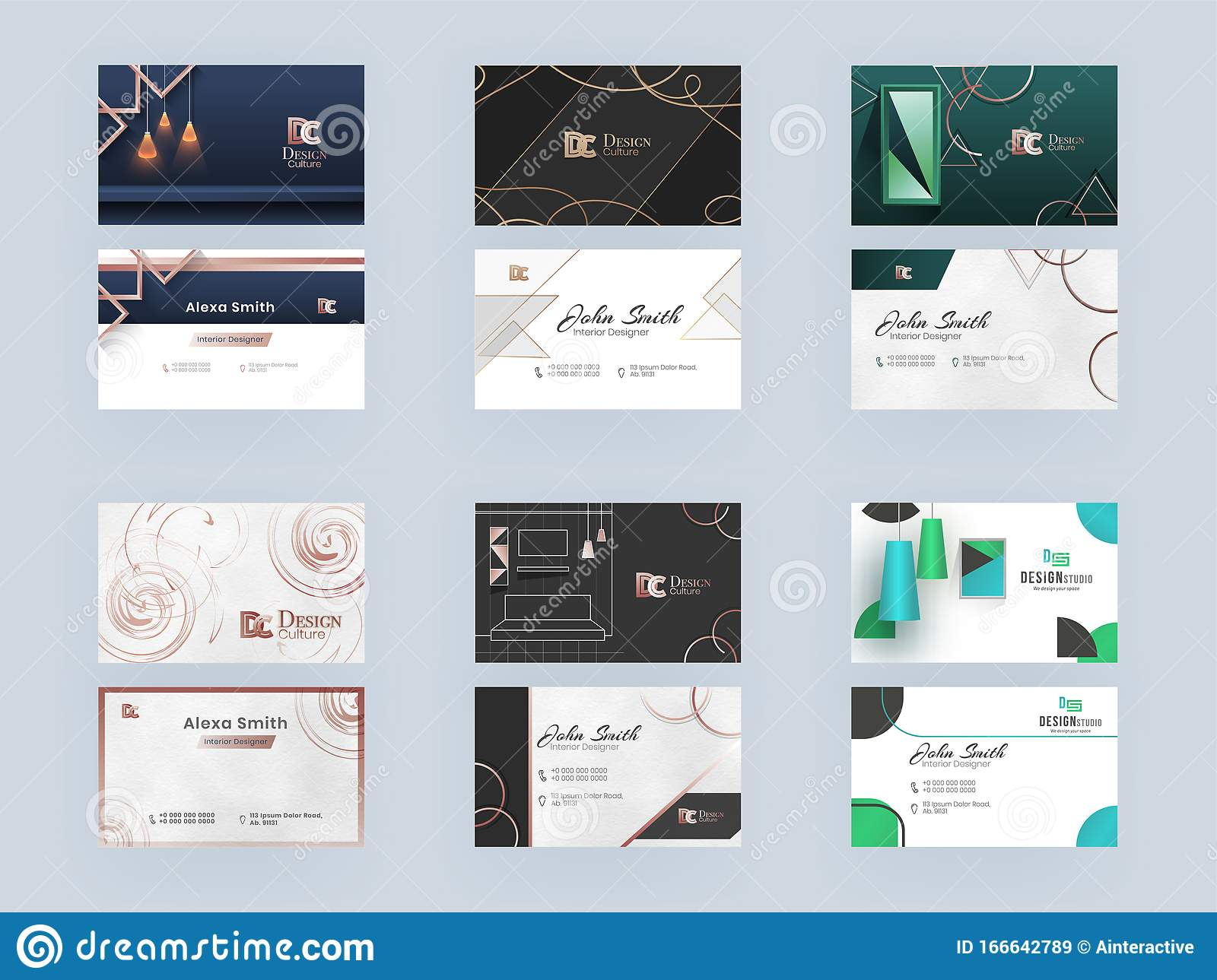 business card design for interior designers layout