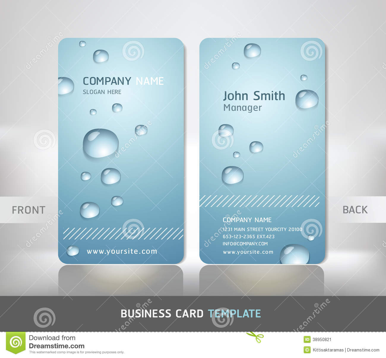 Business card with water drop stock vector image 38950821 business card with water drop magicingreecefo Image collections