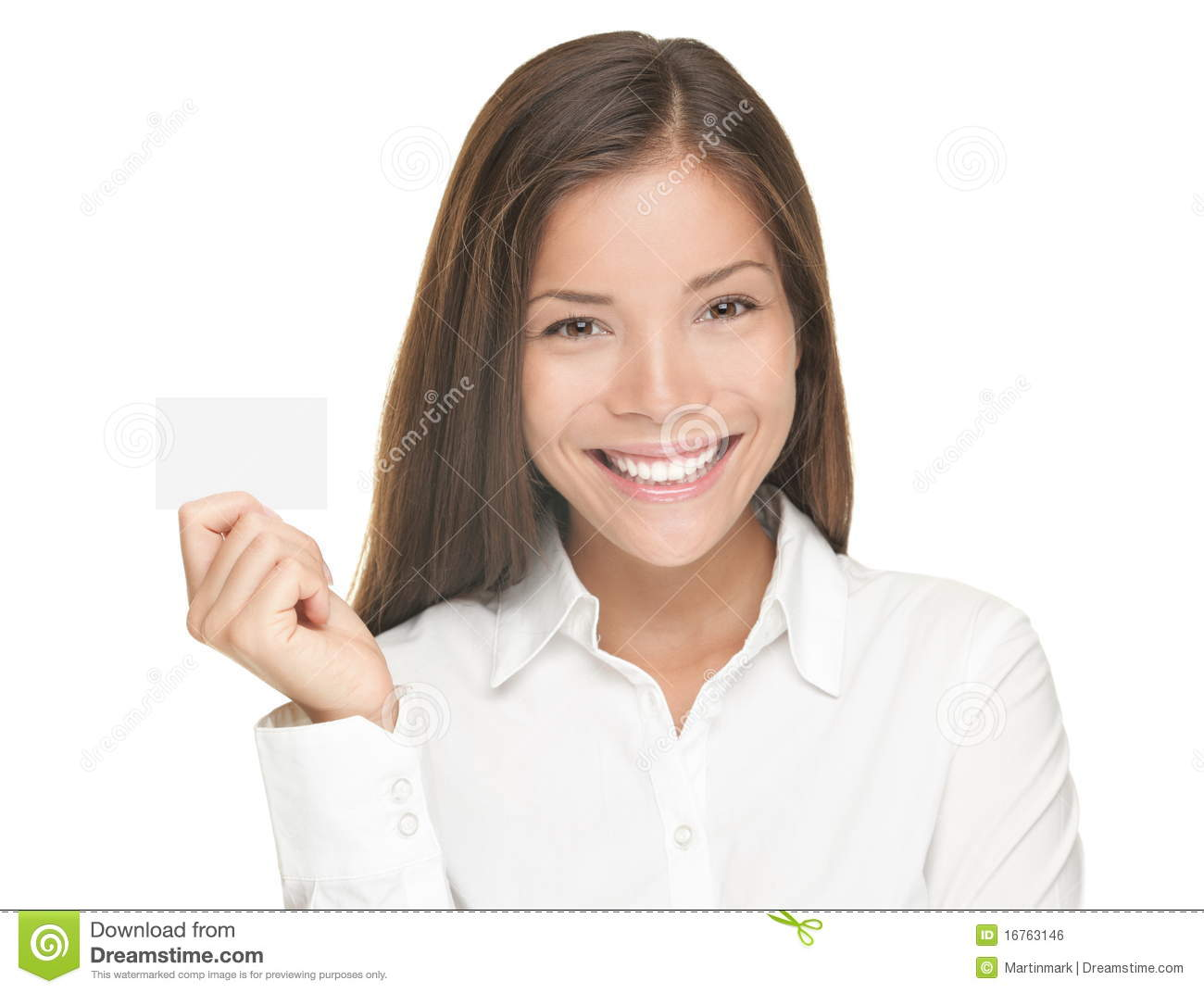 Business card woman