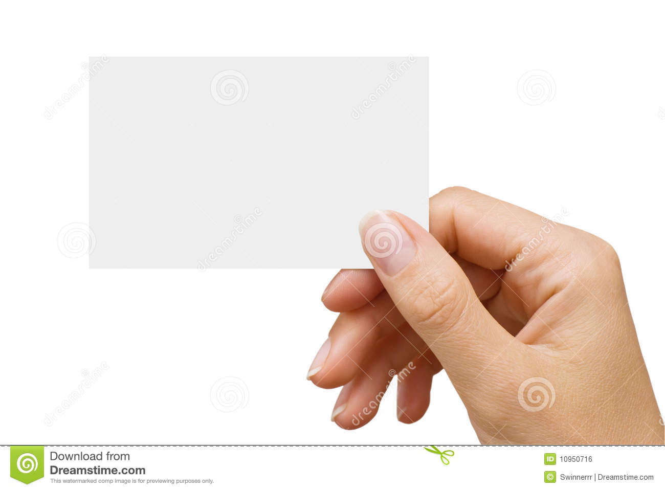 Business card in a women39s hand royalty free stock image for Business cards for women