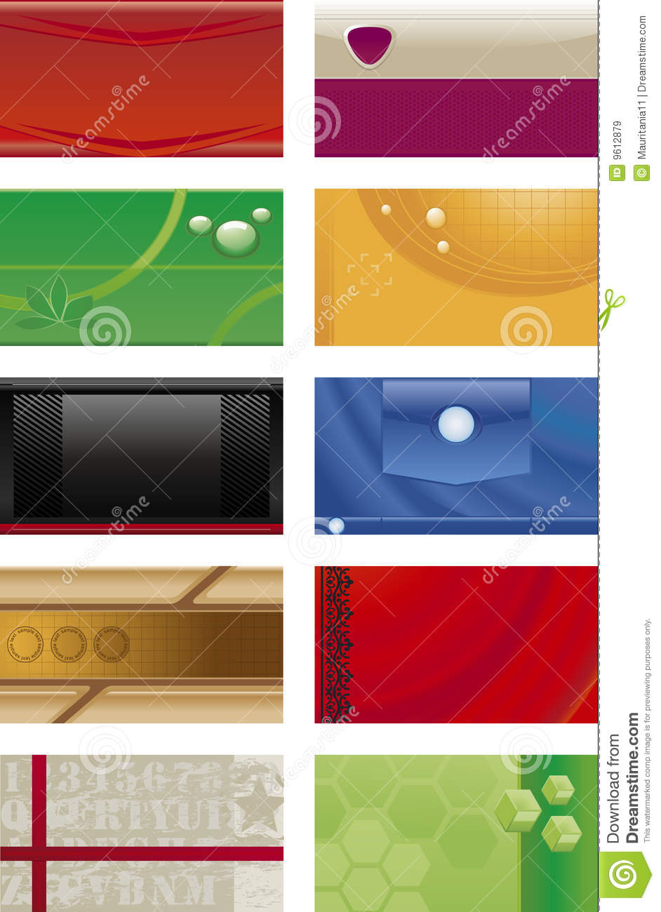 Business Cards Backgrounds Royalty Free Stock Images
