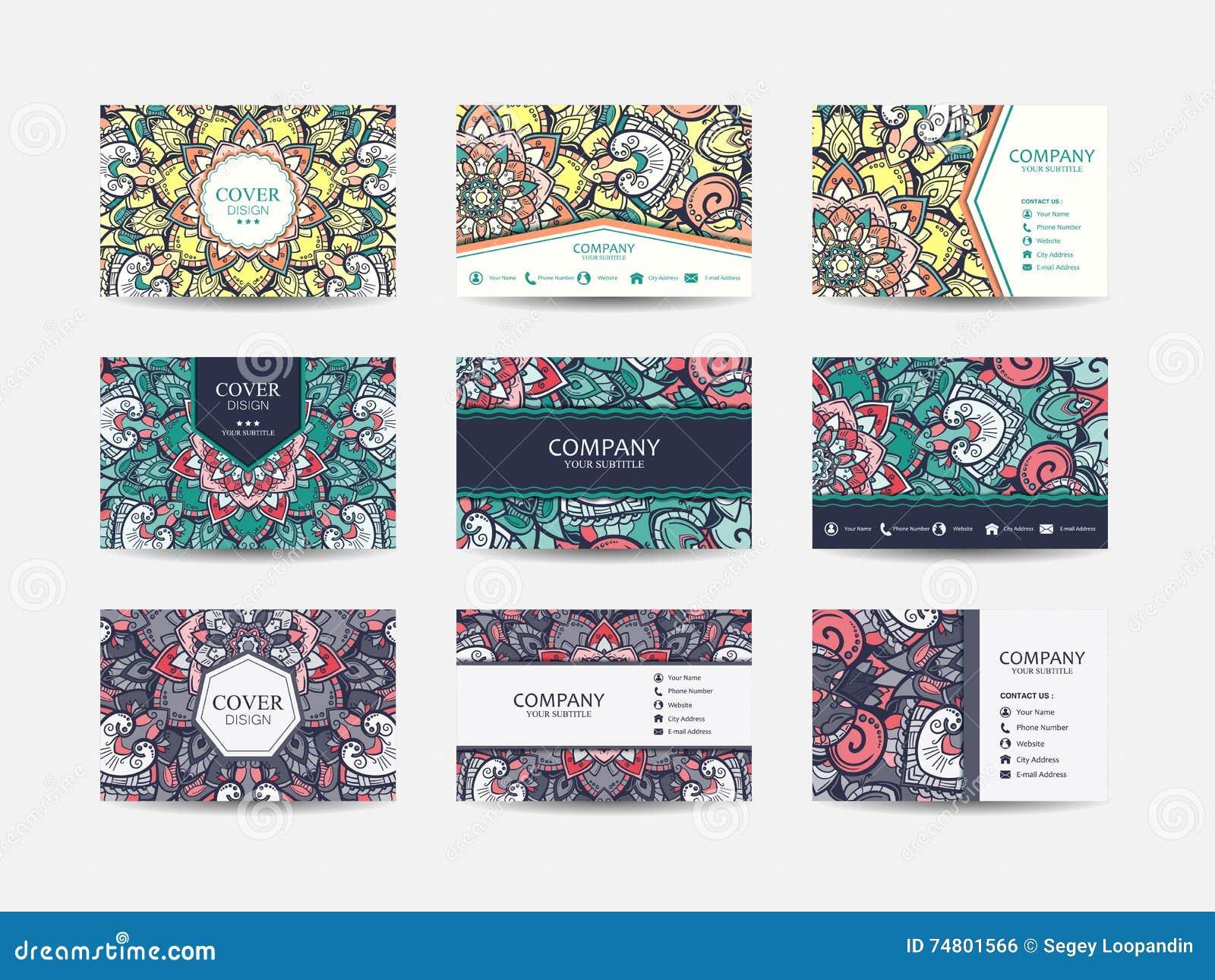 Business cards big set stock illustration. Illustration of frame ...
