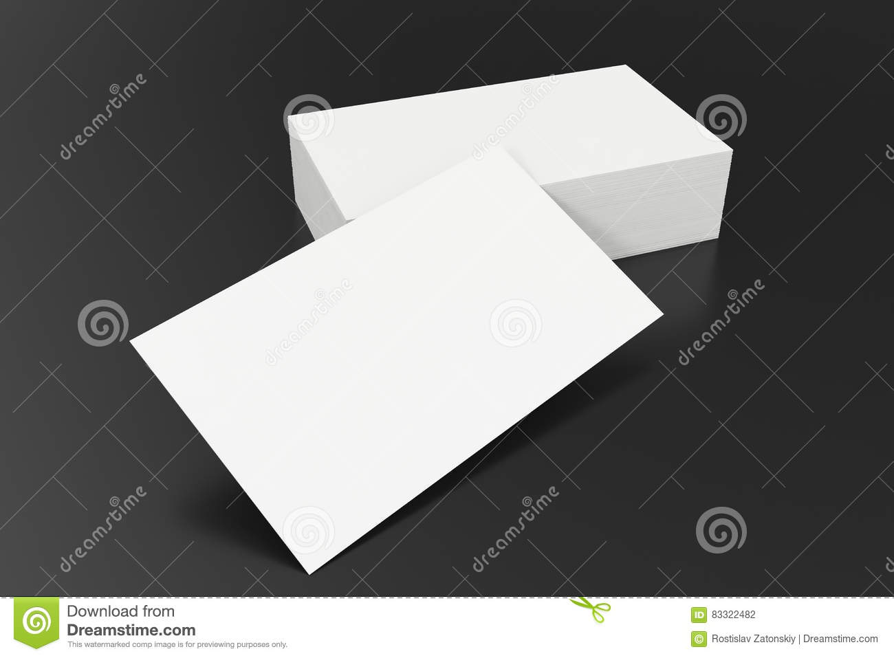 Business cards blank mockup template on balck background 3d download business cards blank mockup template on balck background 3d rendering stock photo reheart Image collections