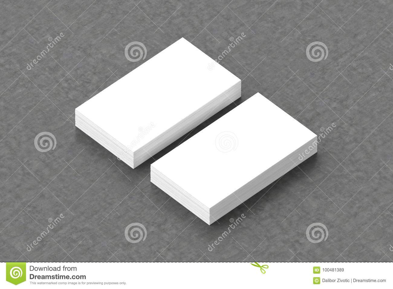 Business cards blank mockup template 3d illustration stock business cards blank mockup template 3d illustration cheaphphosting Choice Image